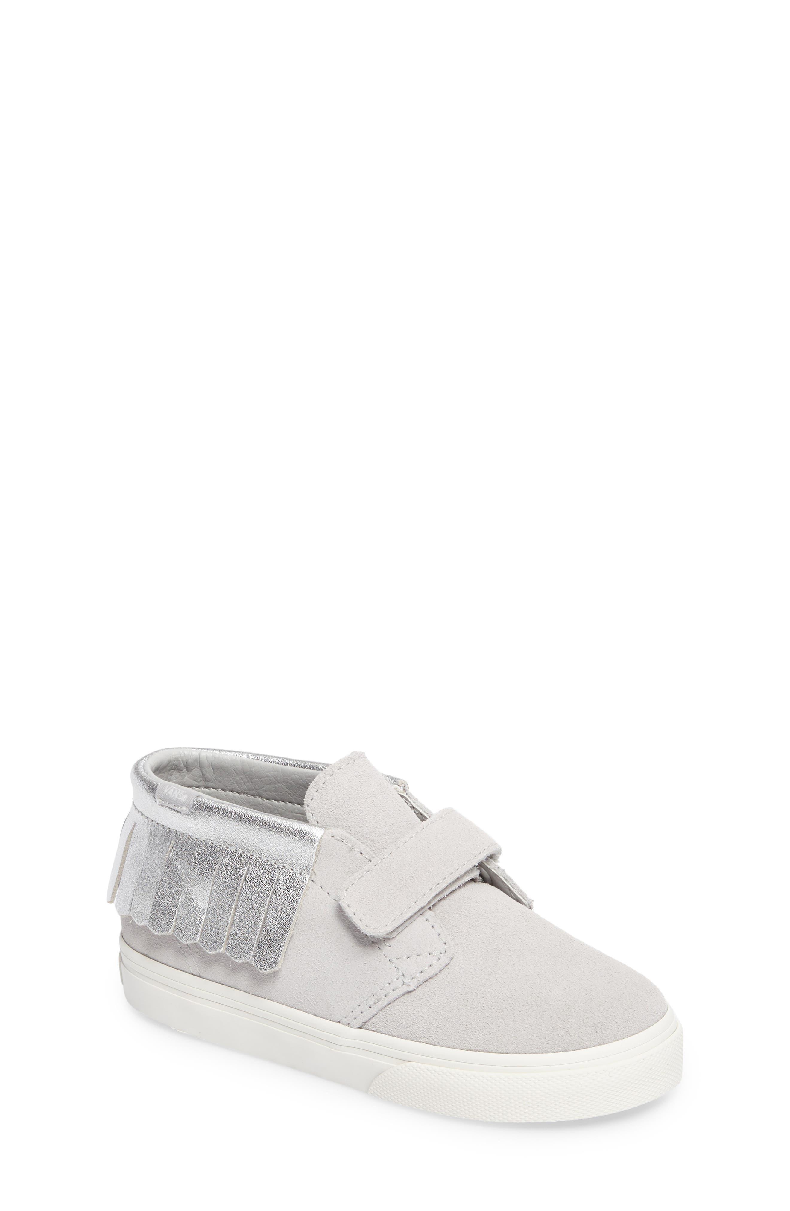 Chukka V Moc Sneaker,                             Main thumbnail 1, color,                             Metallic Glacier Gray