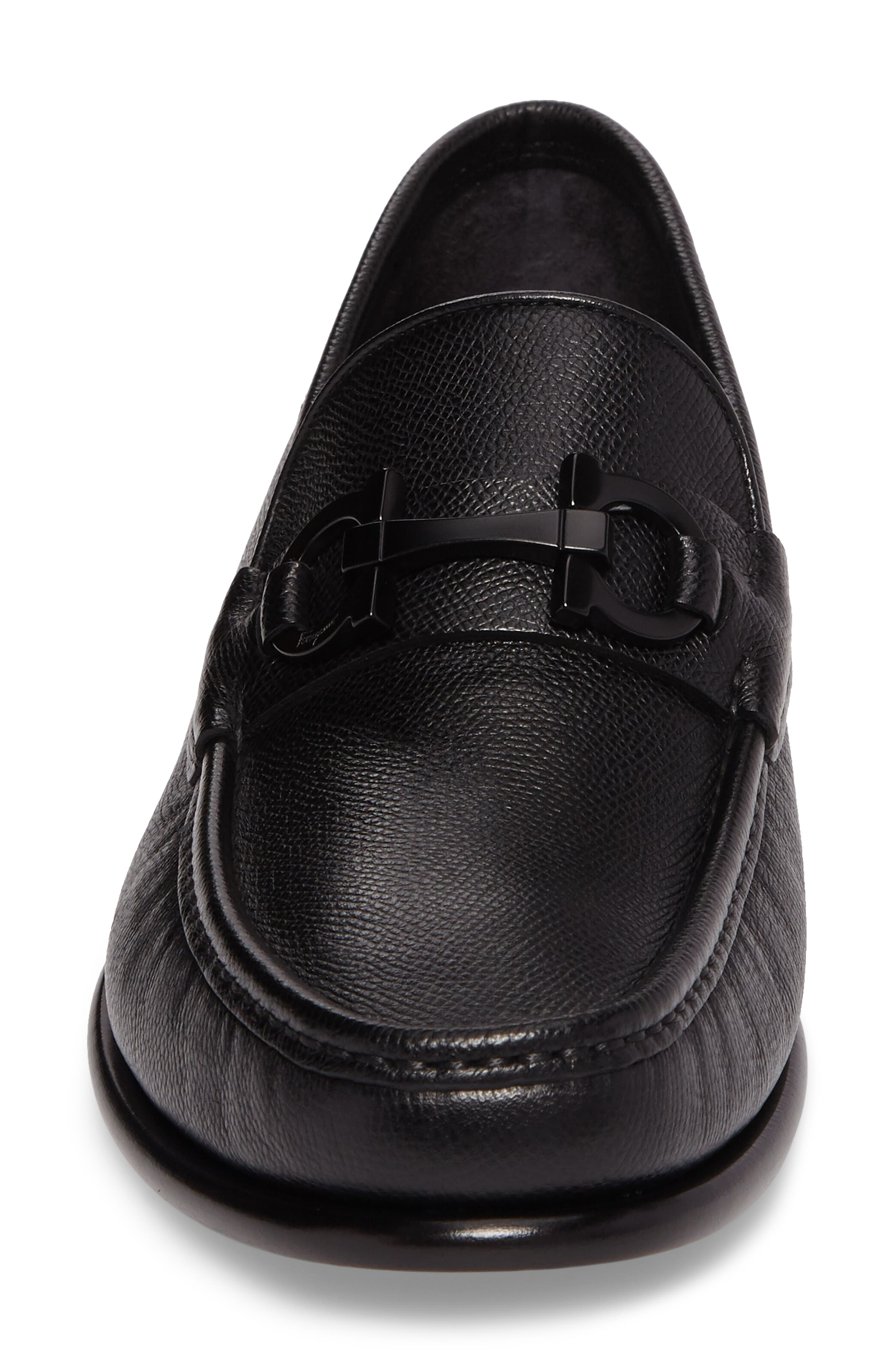 Crown Bit Loafer,                             Alternate thumbnail 4, color,                             Nero