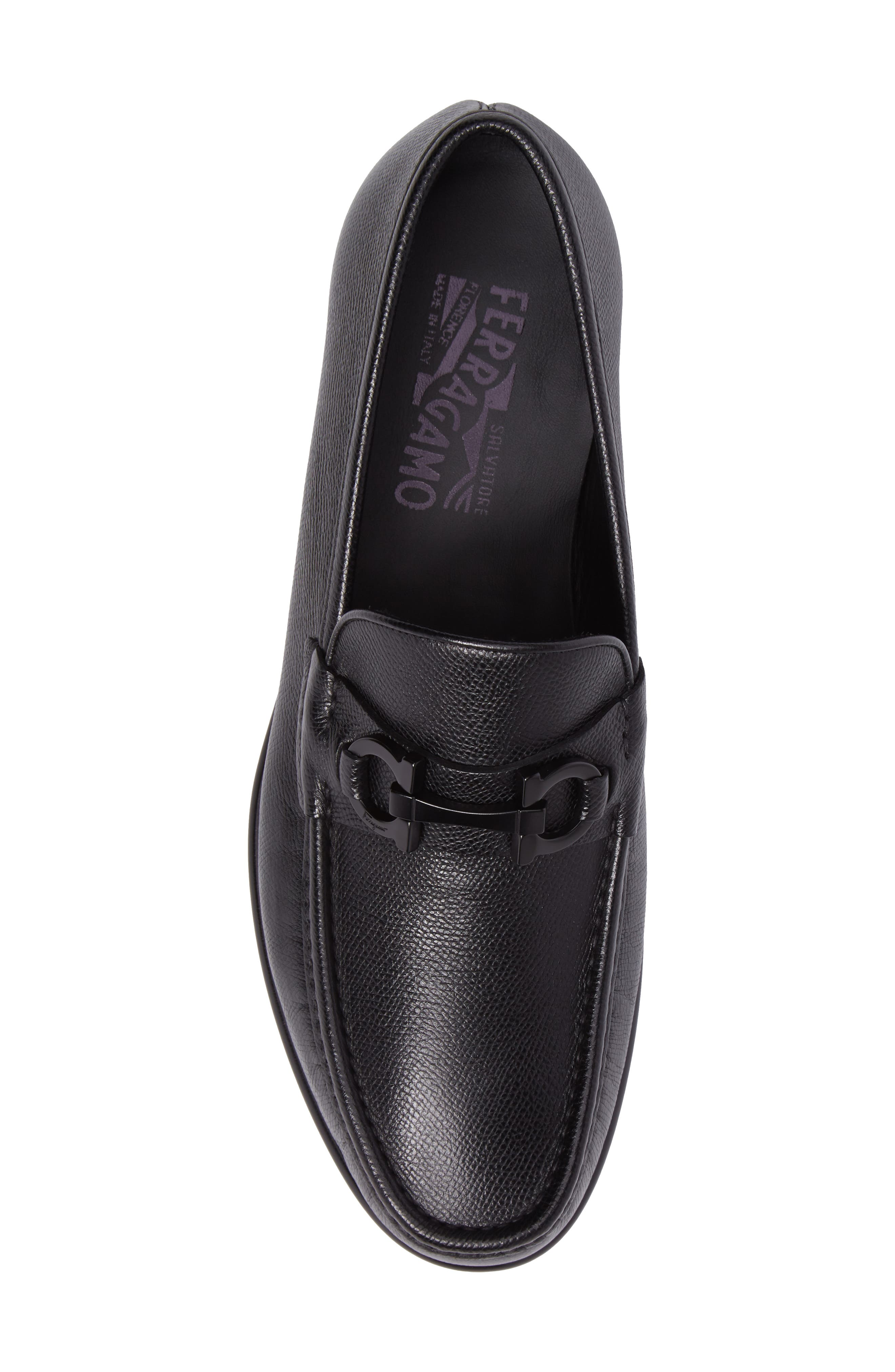 Crown Bit Loafer,                             Alternate thumbnail 5, color,                             Nero