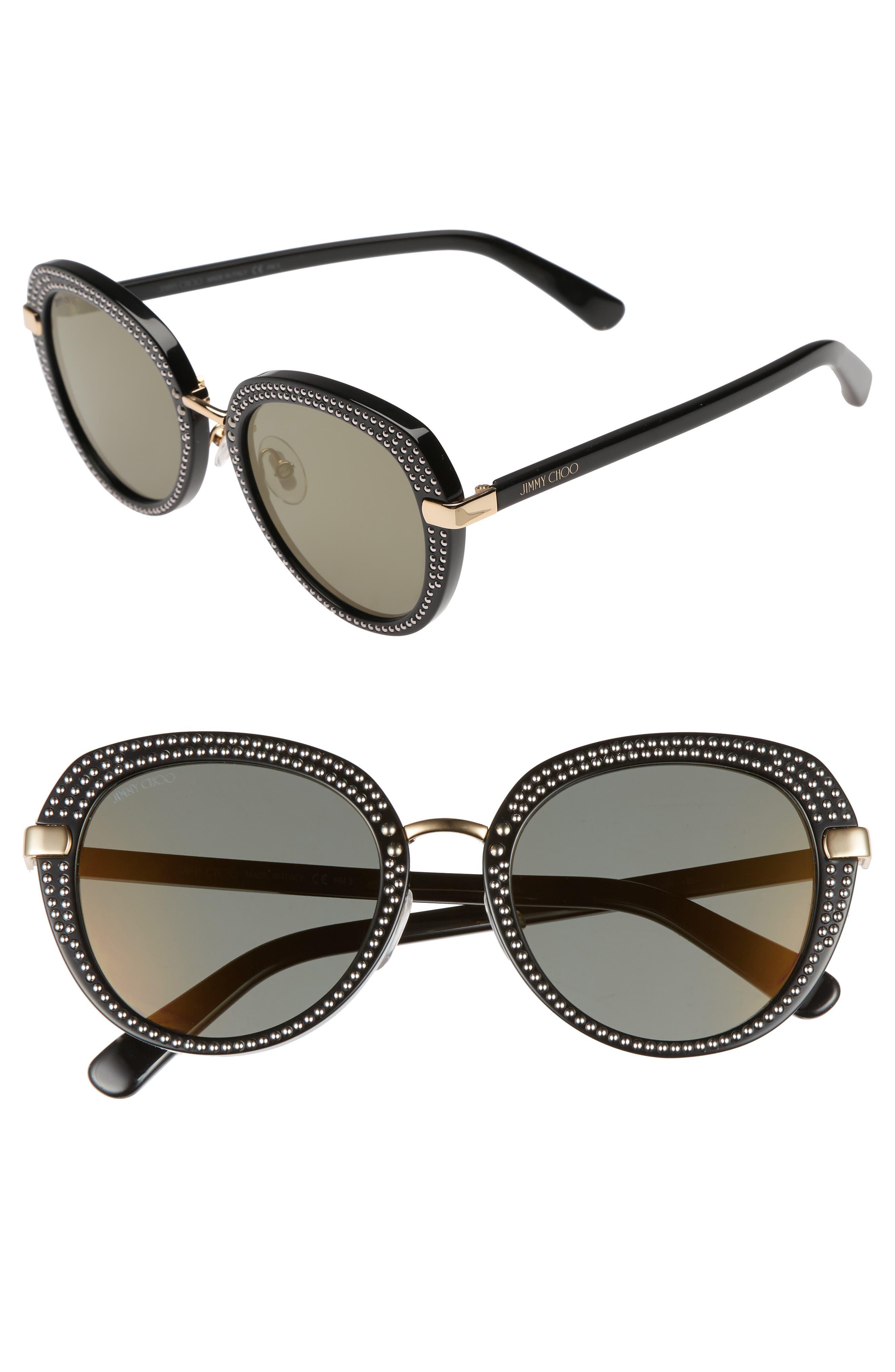 Moris 52mm Oversize Sunglasses,                         Main,                         color, Black Gold