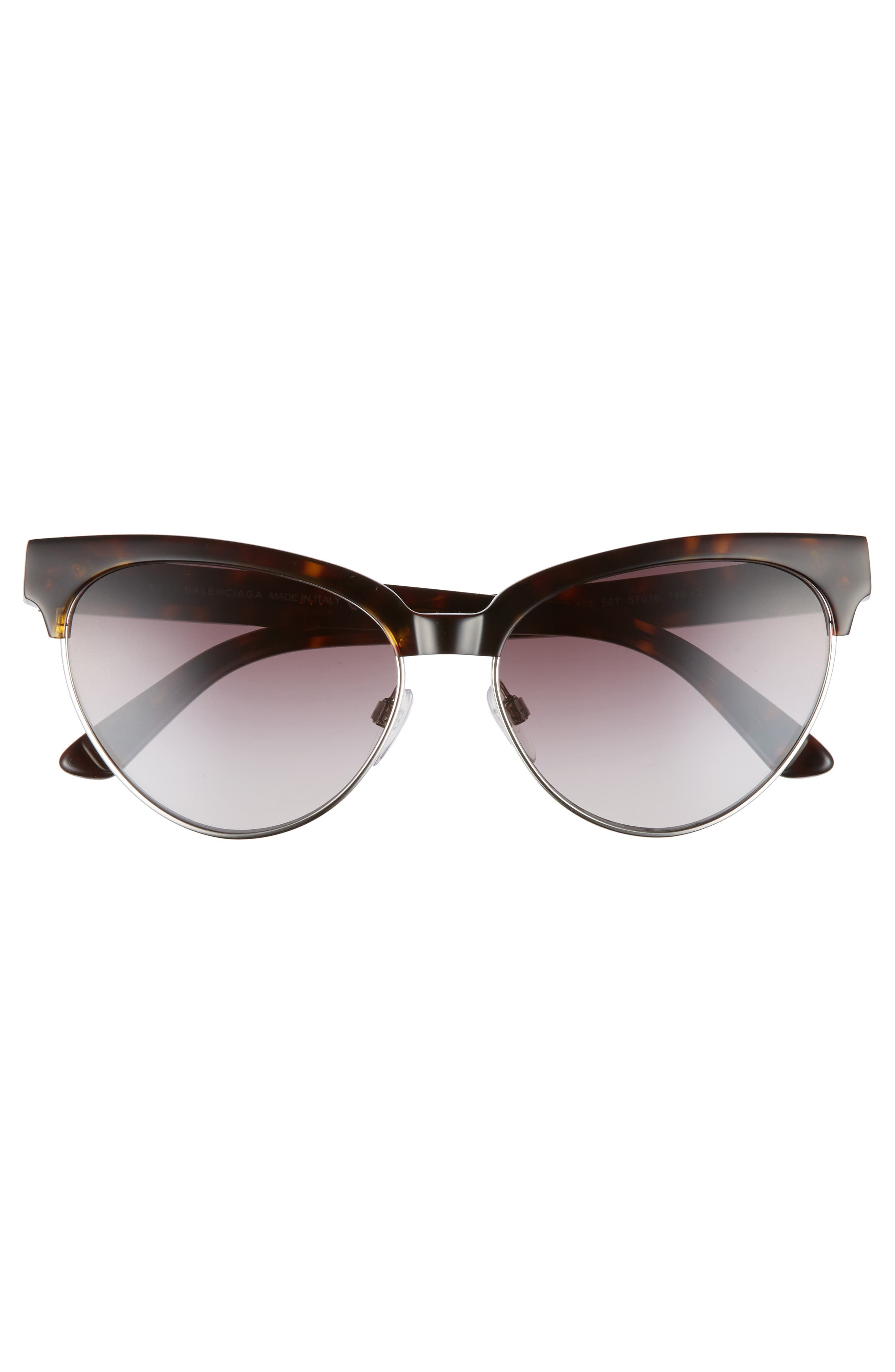 Alternate Image 3  - Balenciaga 57mm Gradient Cat Eye Sunglasses
