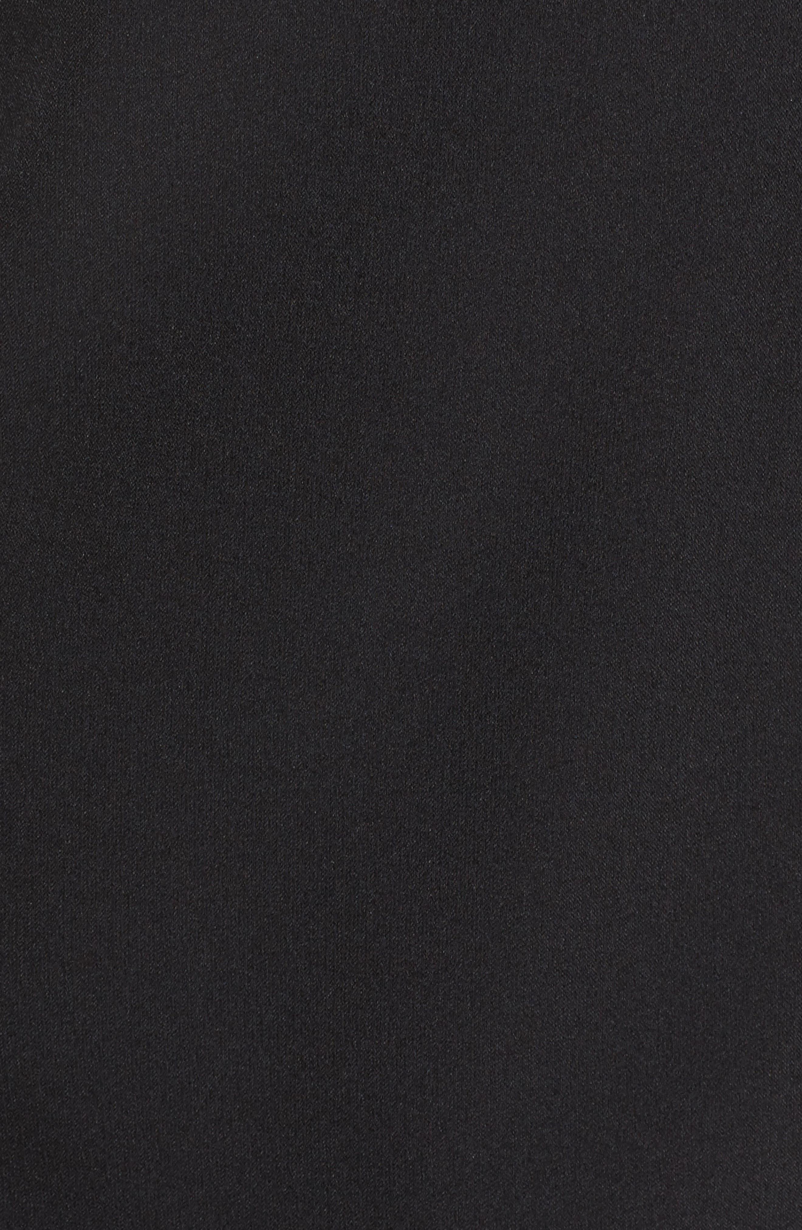 Lace & Crepe Sheath Dress,                             Alternate thumbnail 5, color,                             Black