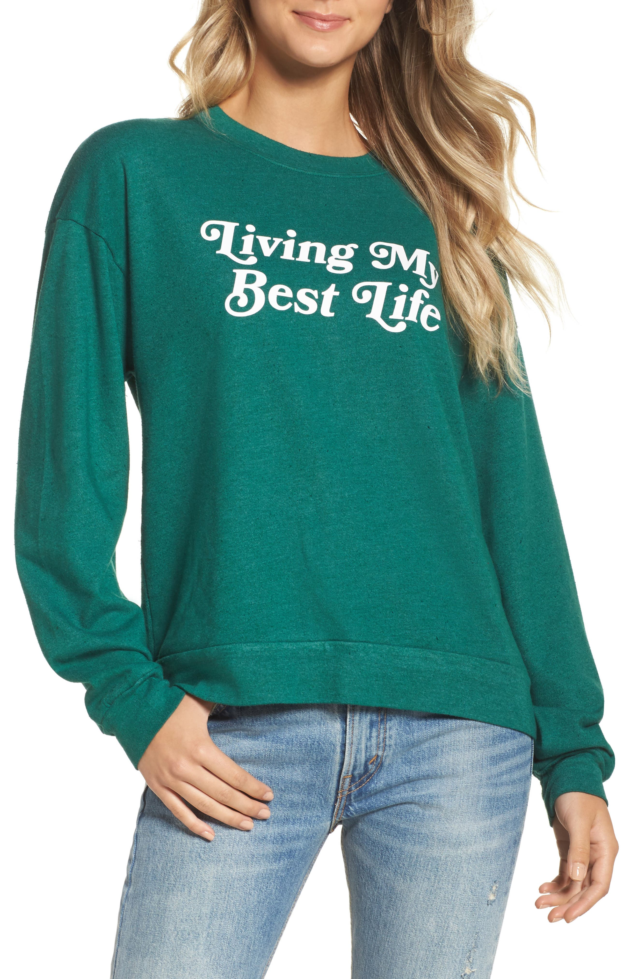 Alternate Image 1 Selected - Private Party Living My Best Life Sweatshirt