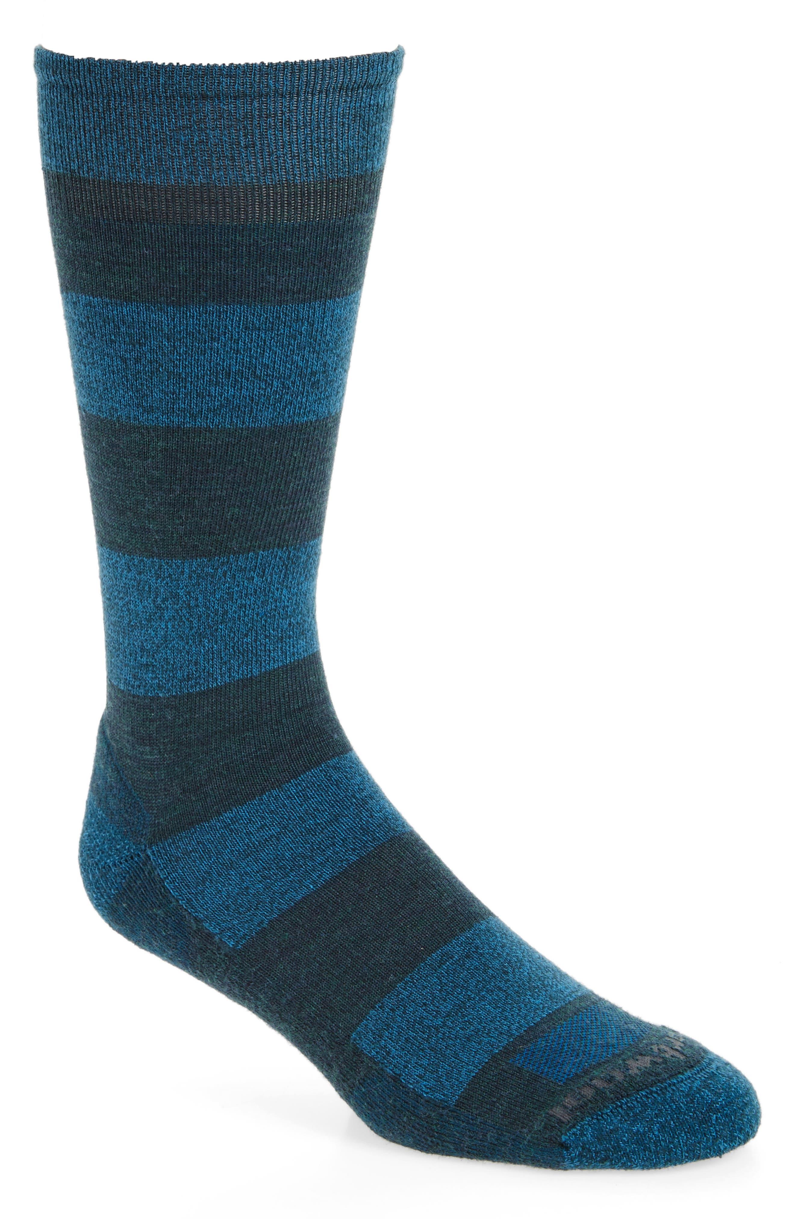 Gimsby Stripe Socks,                         Main,                         color, Lochness Heather