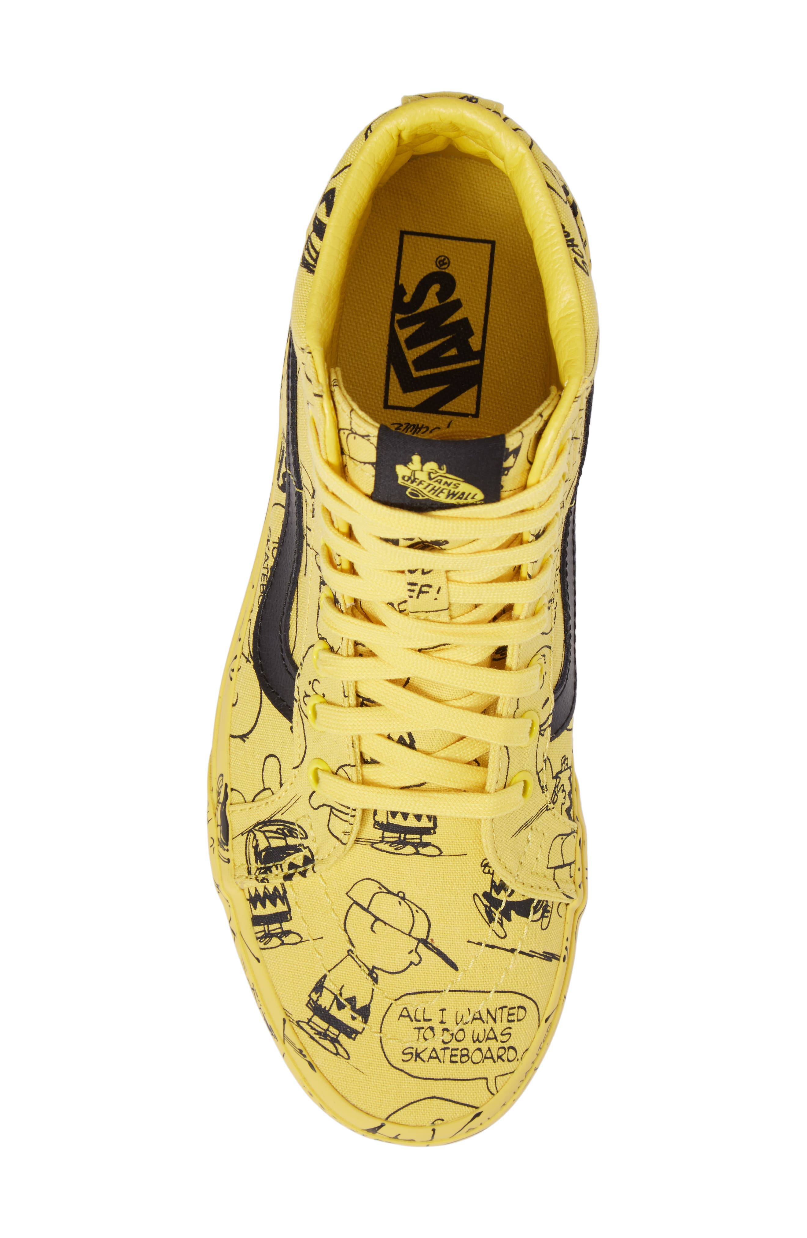 x Peanuts<sup>®</sup> Sk8-Hi Reissue Sneaker,                             Alternate thumbnail 5, color,                             Maize Canvas