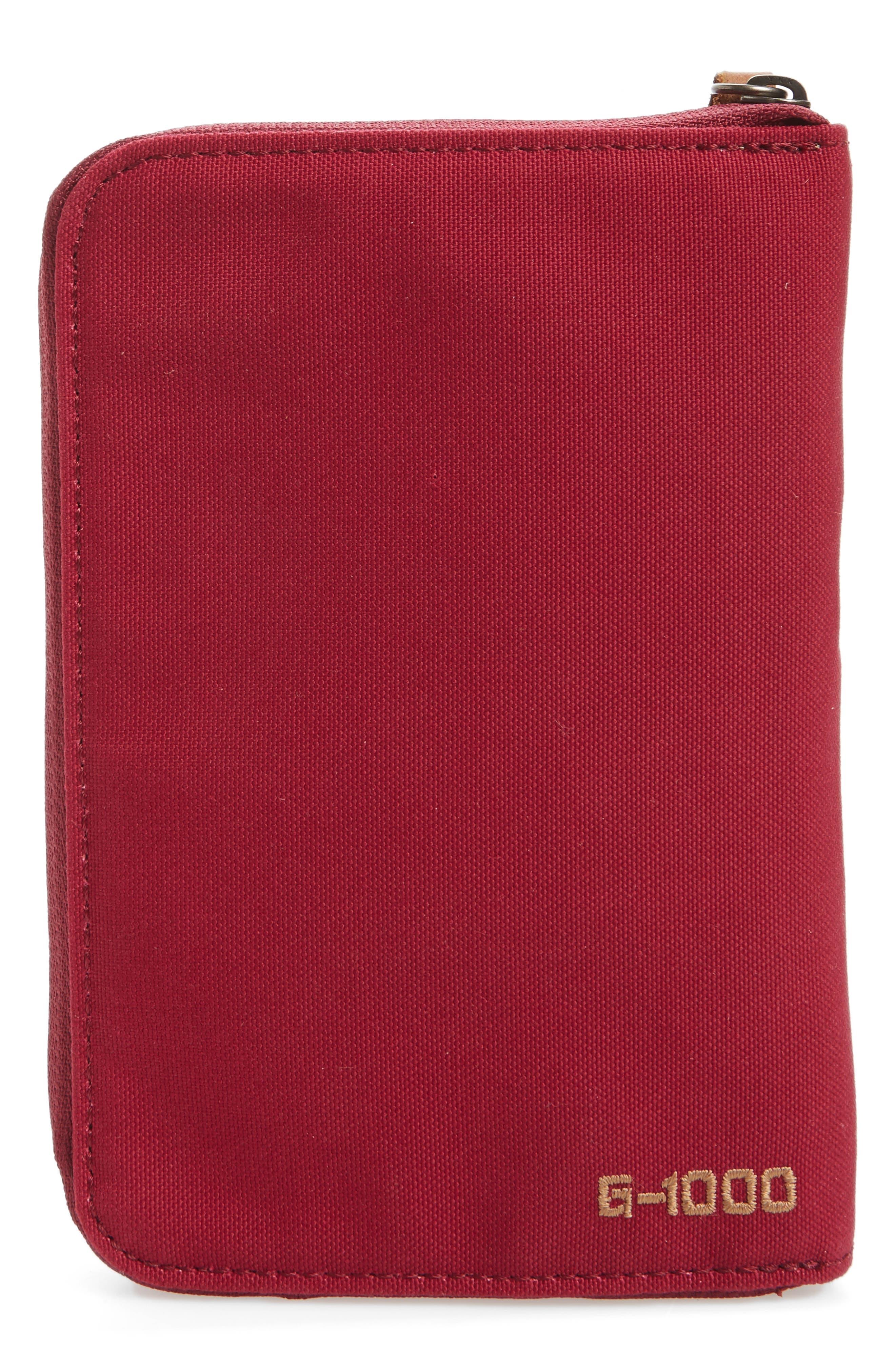 Canvas Passport Wallet,                             Alternate thumbnail 3, color,                             Plum