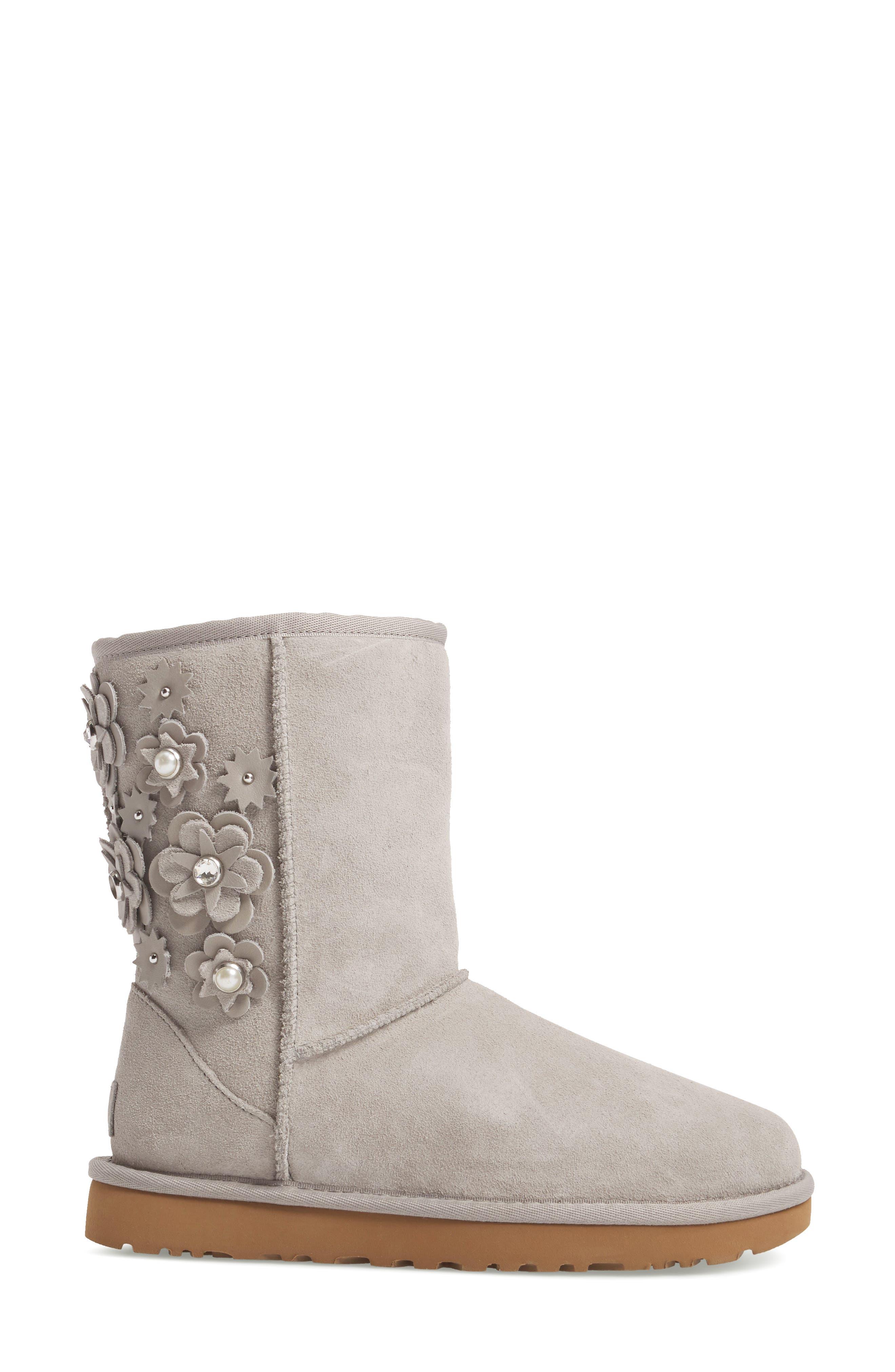 Alternate Image 3  - UGG® Classic Short Petal Boot (Women)