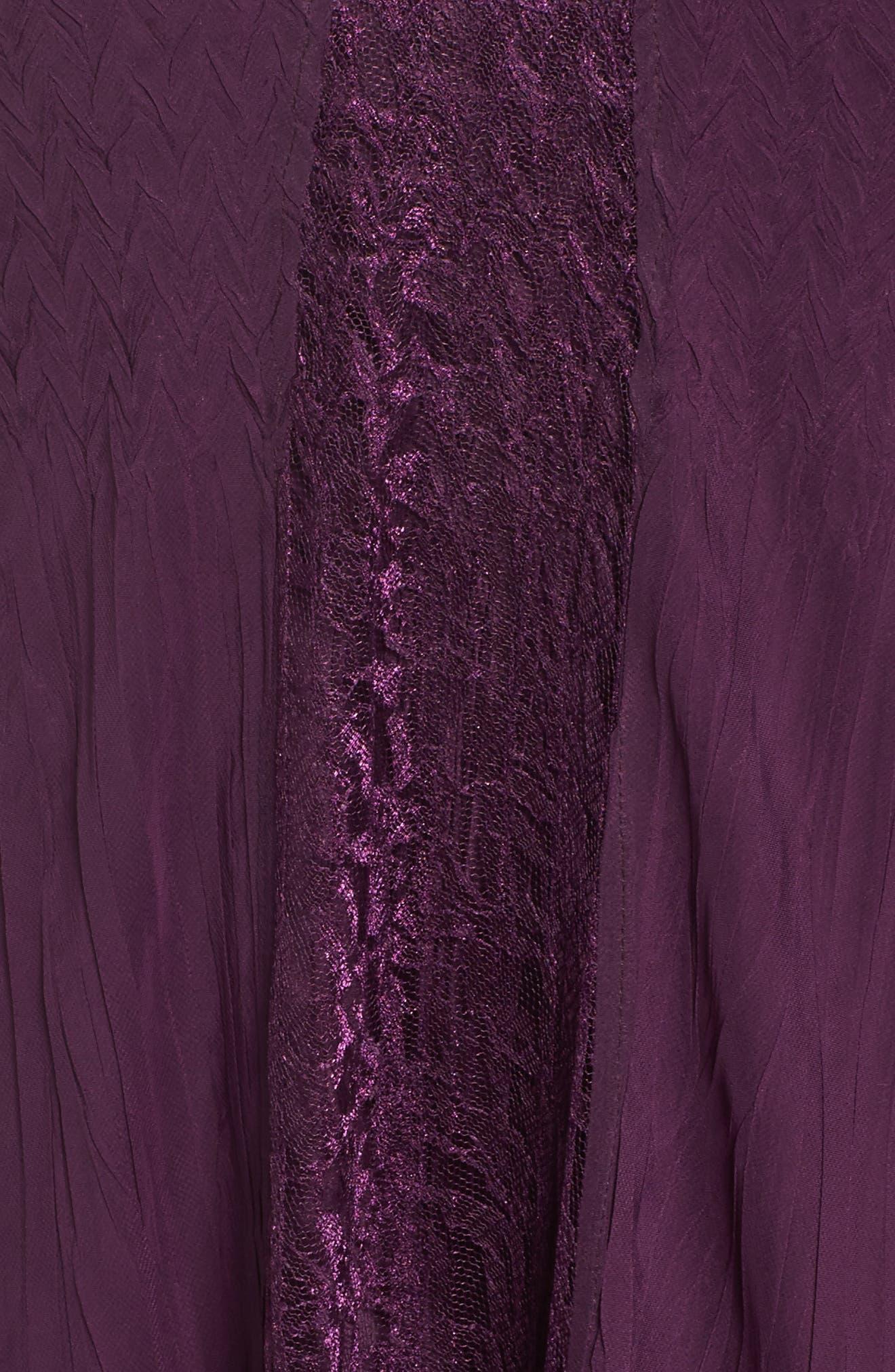 Center Front Lace Dress,                             Alternate thumbnail 5, color,                             Aubergine