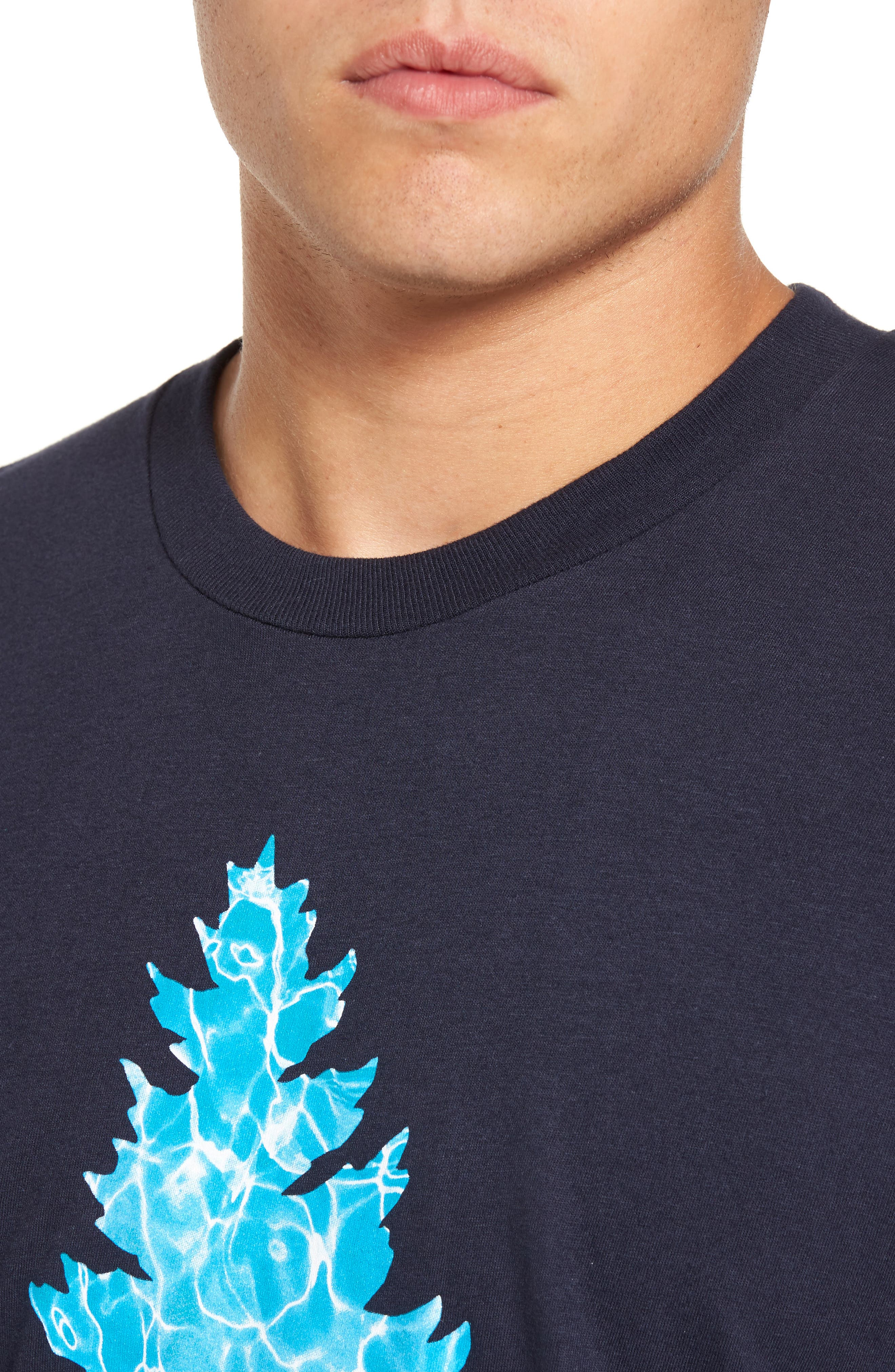 Johnny Tree Pool Graphic T-Shirt,                             Alternate thumbnail 4, color,                             Navy