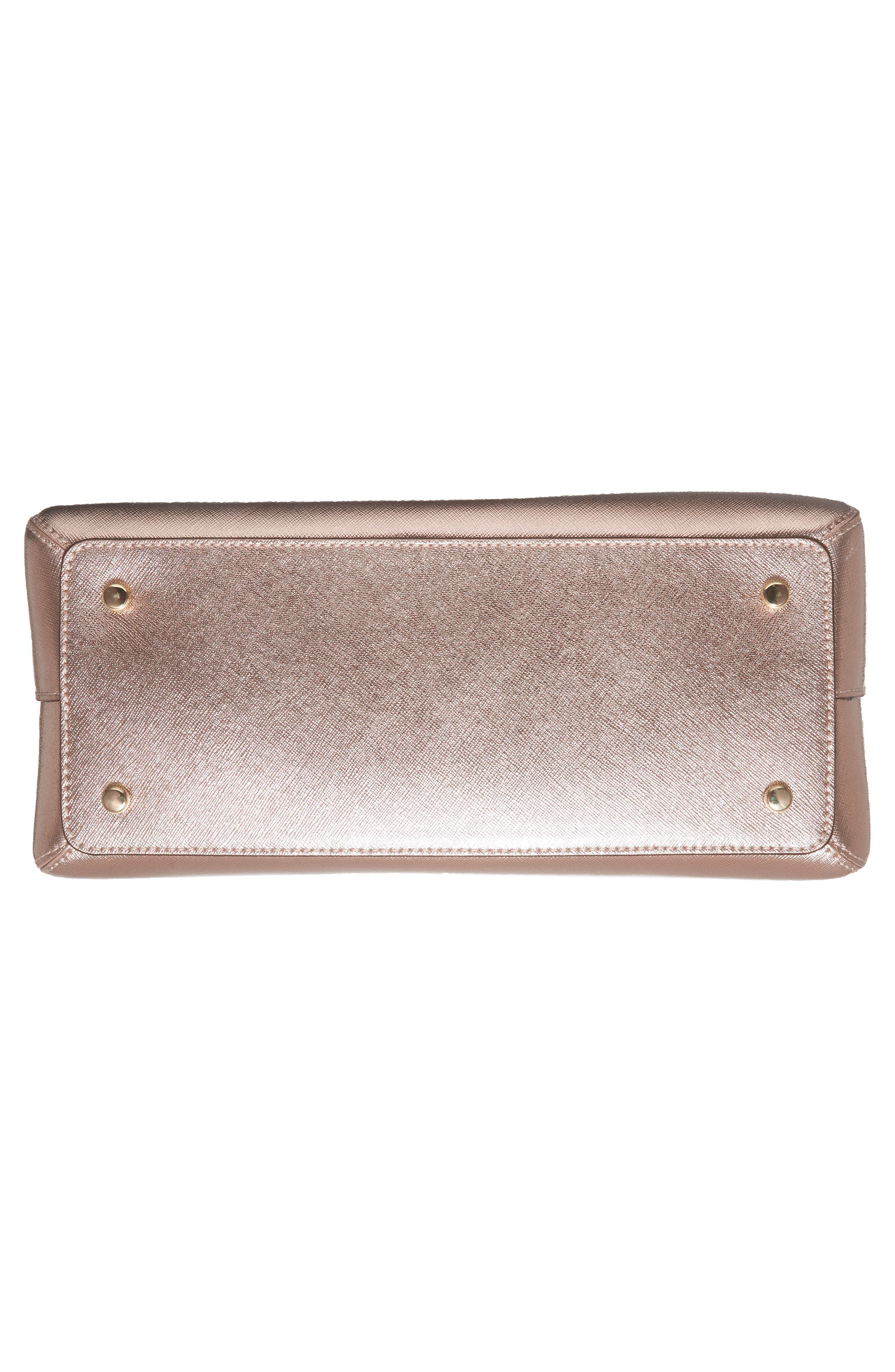 cameron street - lottie leather satchel,                             Alternate thumbnail 6, color,                             Rose Gold