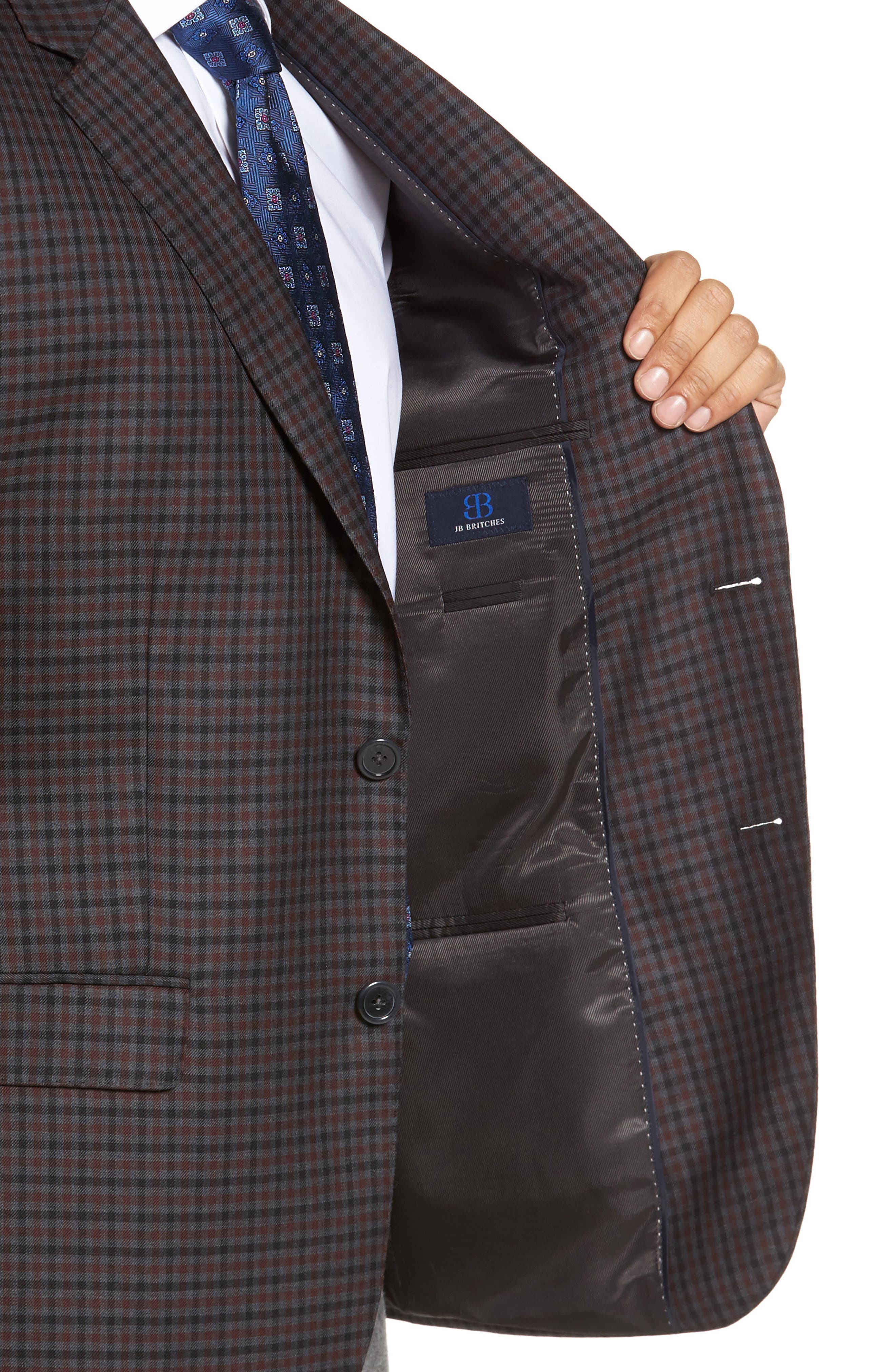 Alternate Image 4  - JB Britches Classic Fit Check Wool Sport Coat
