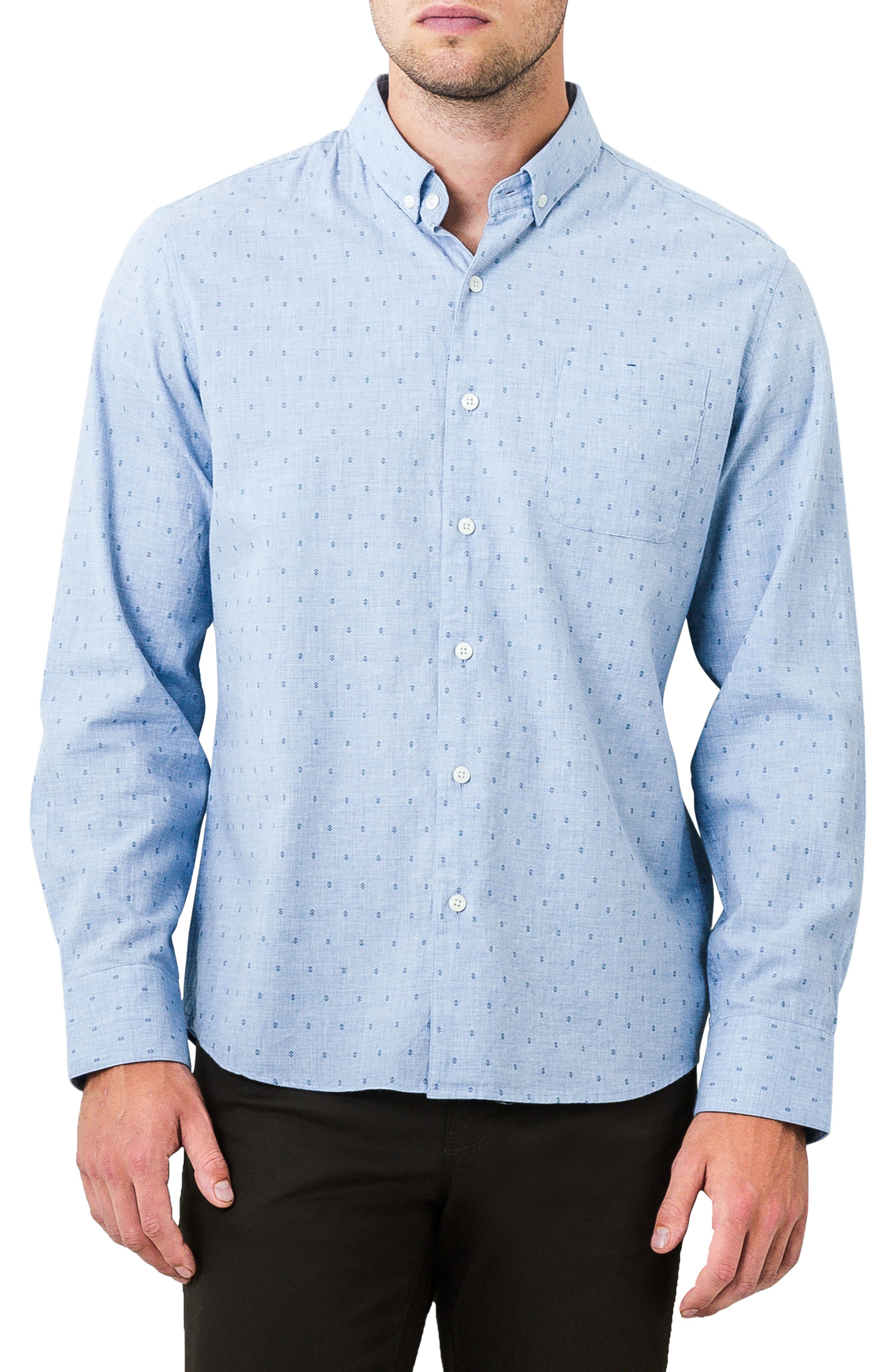 First Light Woven Shirt,                         Main,                         color, Light Blue