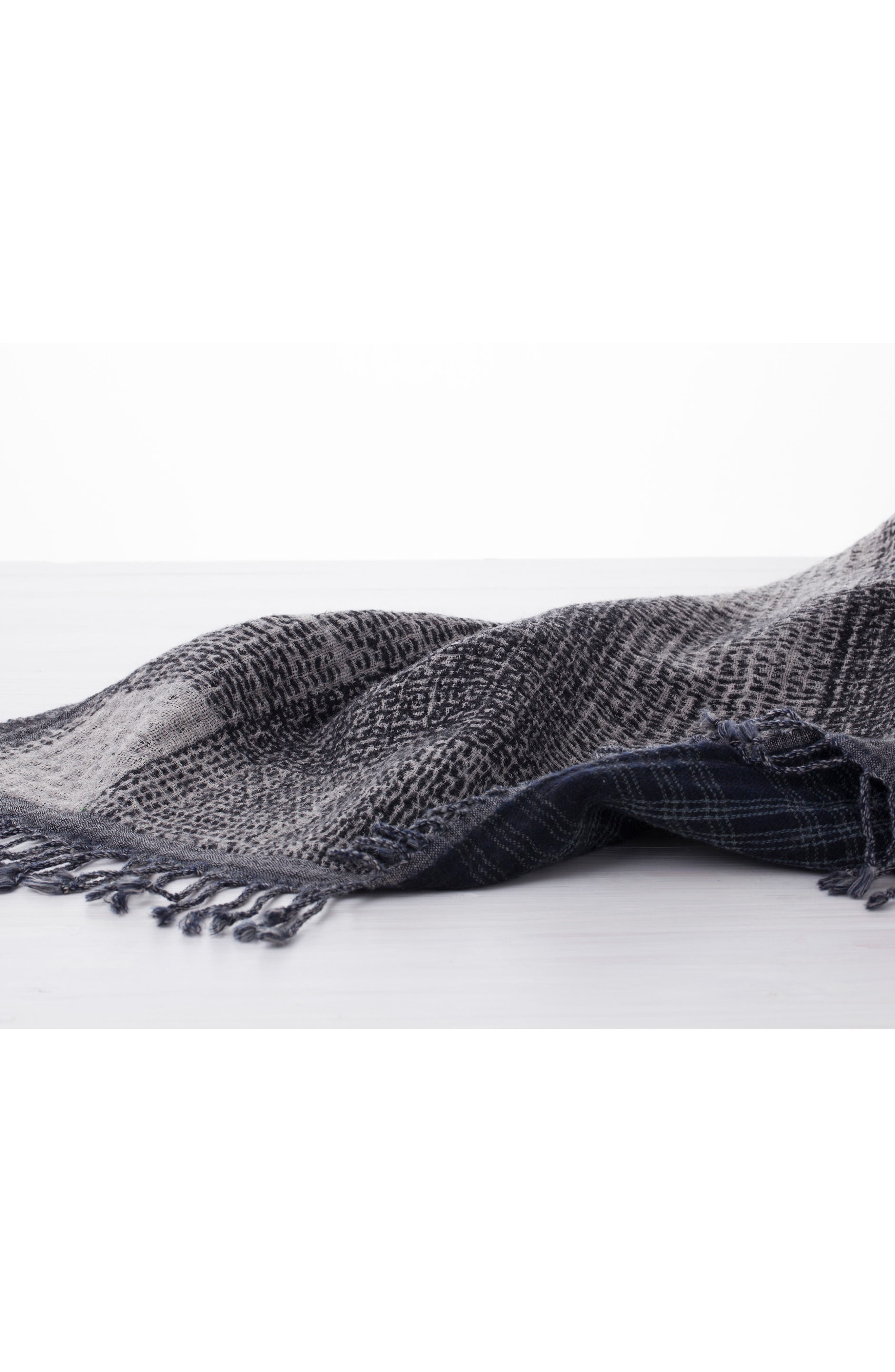 Alternate Image 3  - Modern Staples Deskloom Double Face Merino Wool Throw