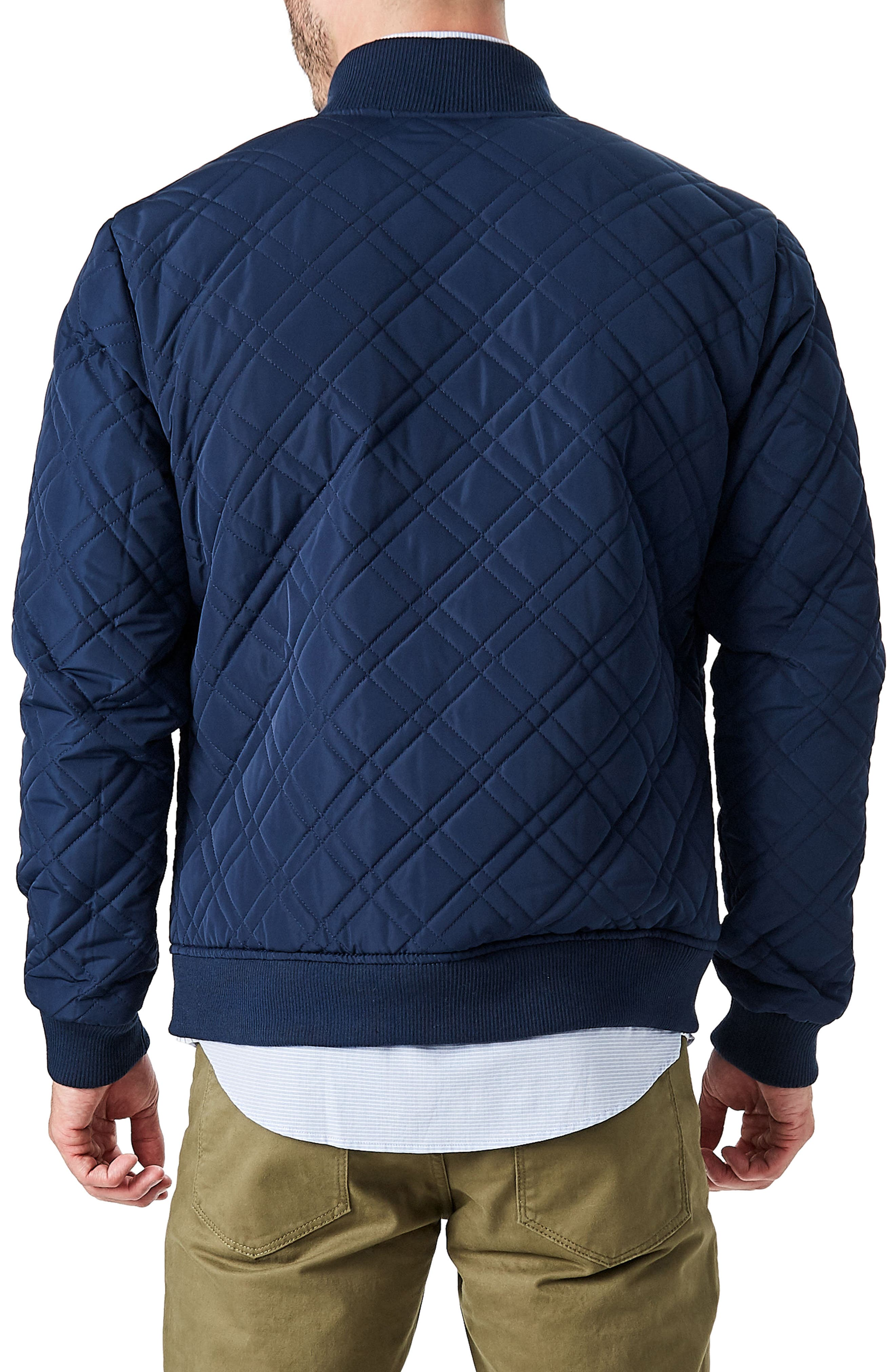 Arca Quilt Jacket,                             Alternate thumbnail 2, color,                             Navy