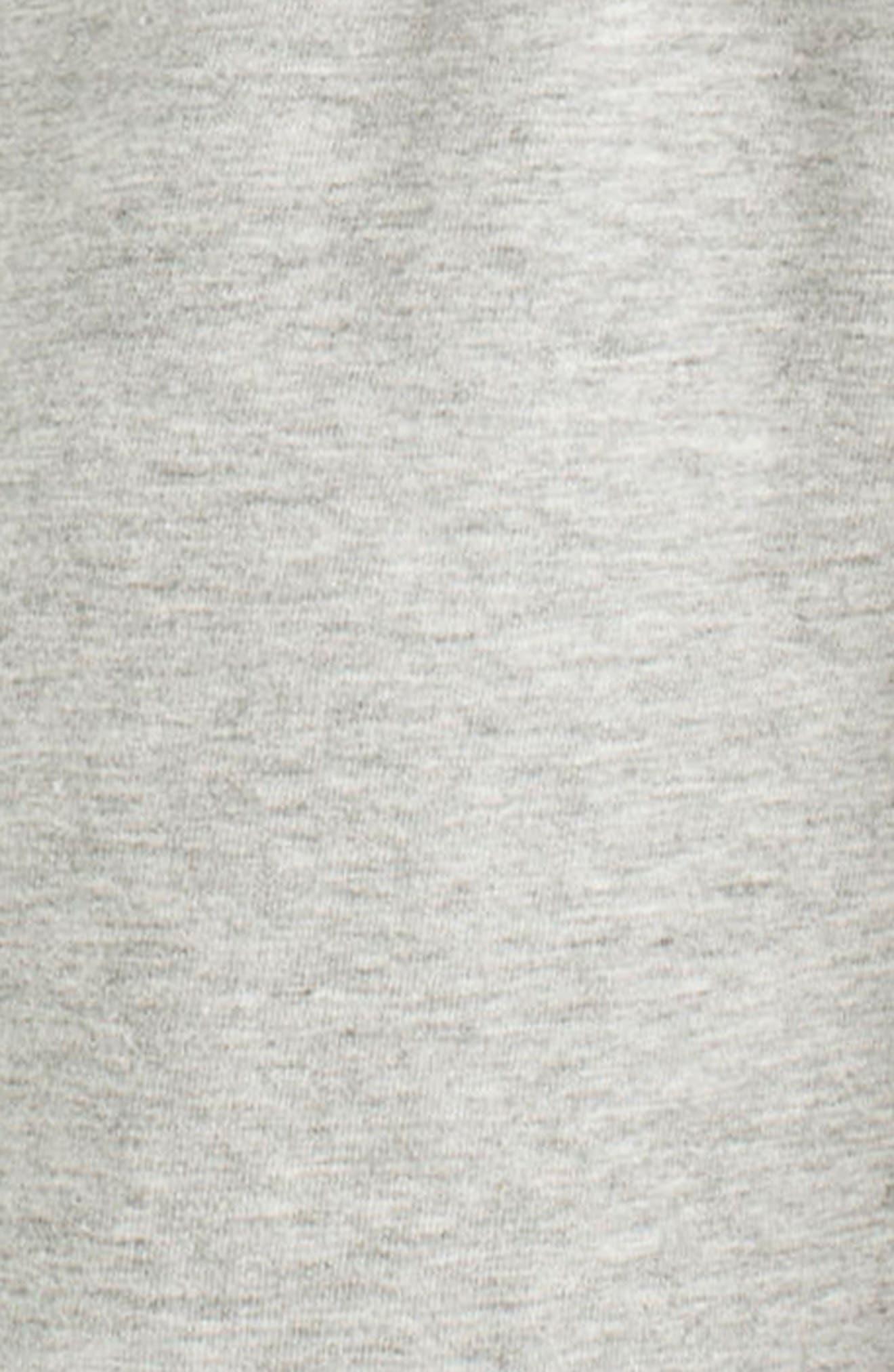 Knit Sleep Shirt,                             Alternate thumbnail 3, color,                             Heather Grey