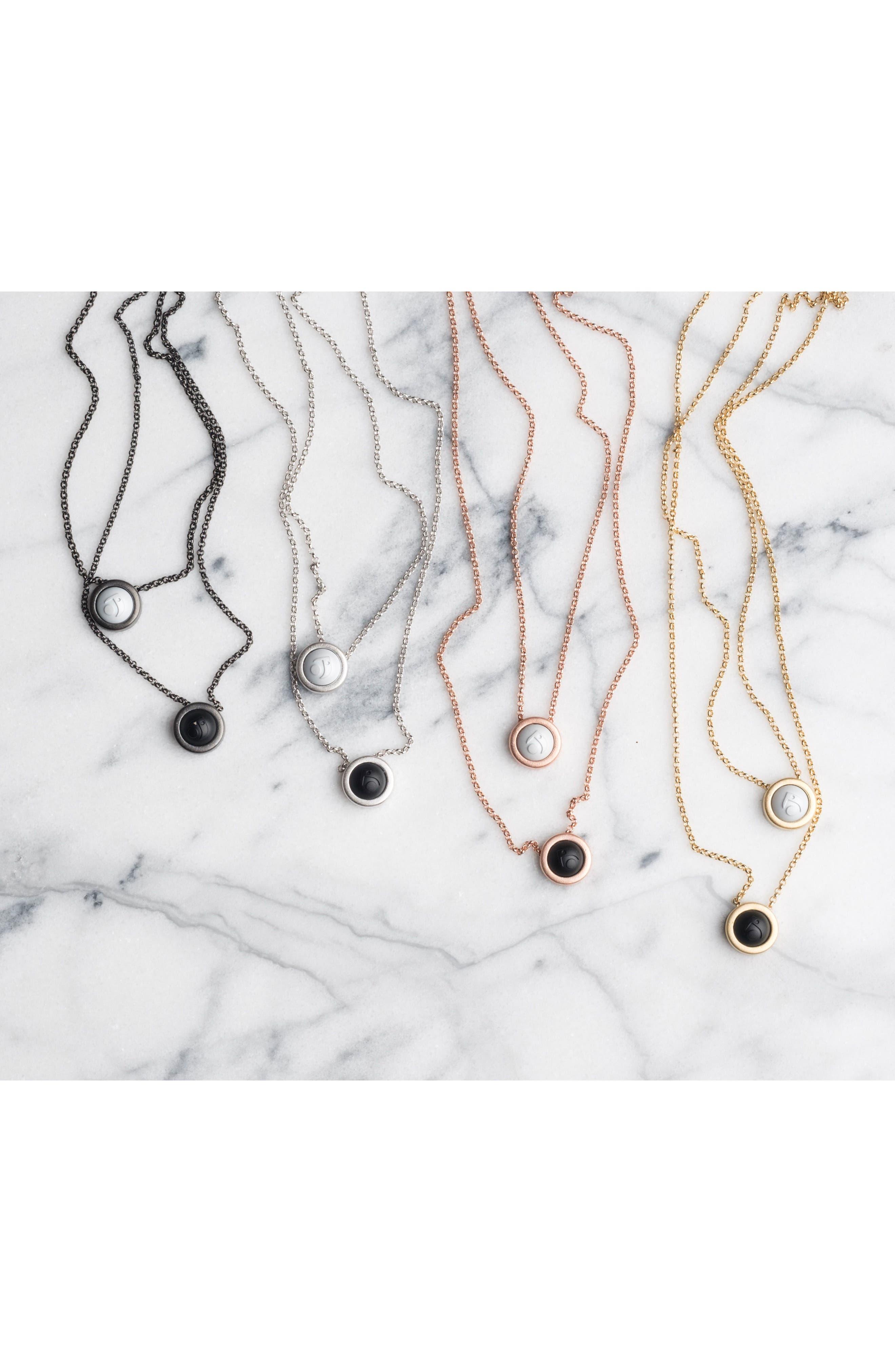 Double Fine Chain Pendant Necklace,                             Alternate thumbnail 5, color,                             Gold