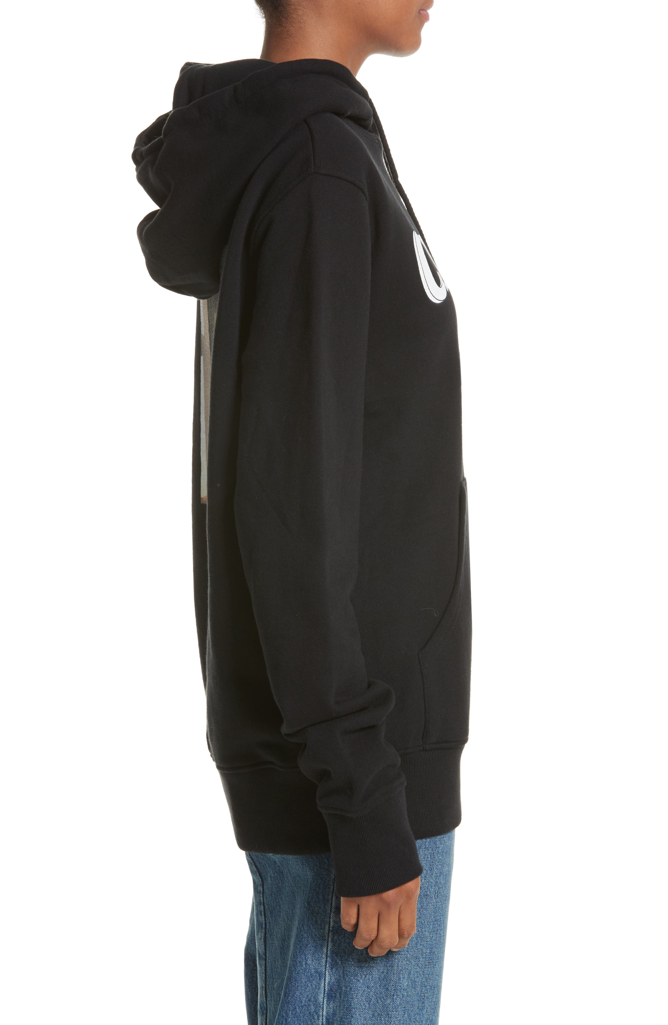 Classic Pullover Hoodie,                             Alternate thumbnail 4, color,                             Black