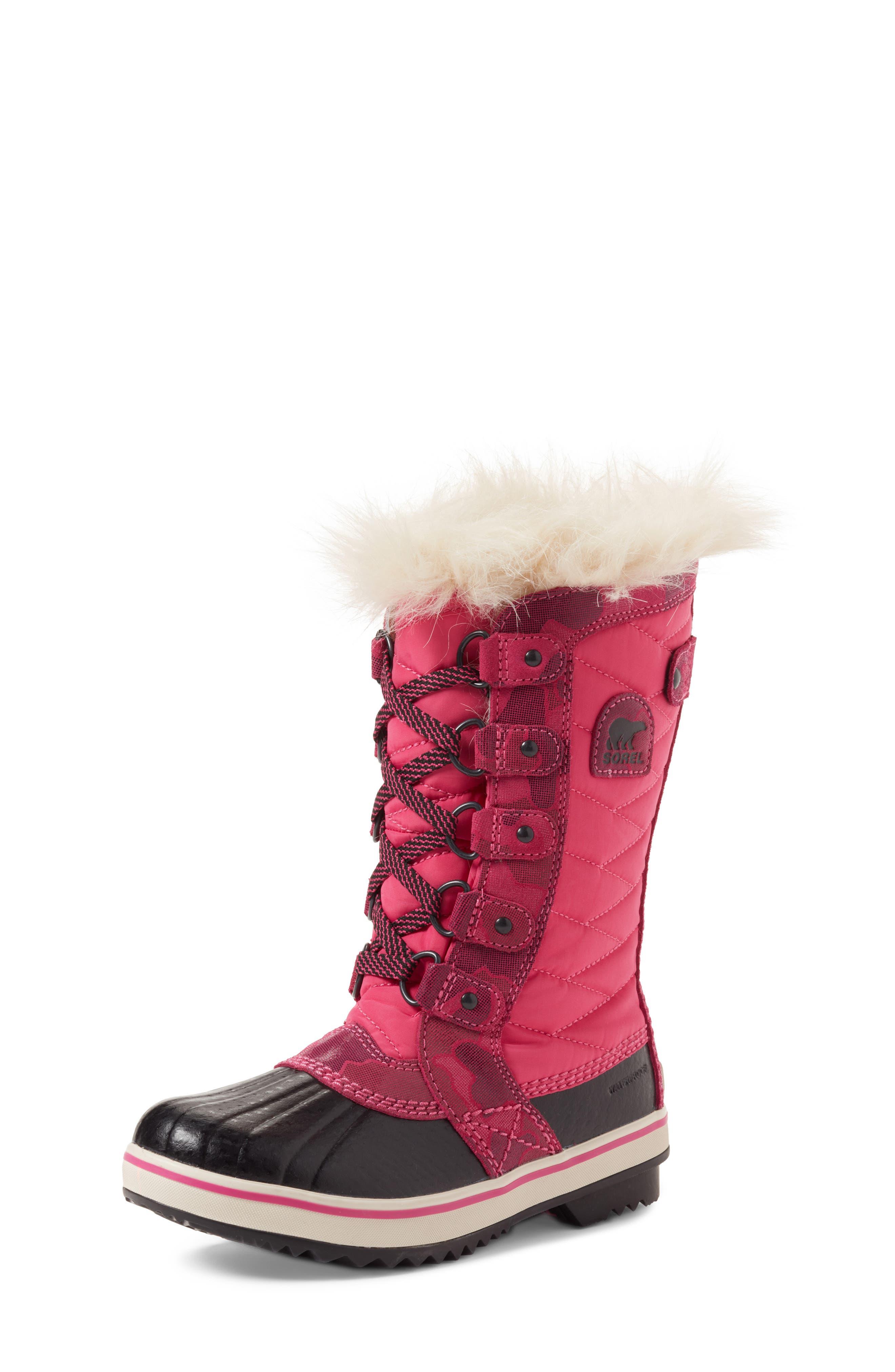Main Image - SOREL Tofino II Faux Fur Lined Waterproof Boot (Little Kid & Big Kid)