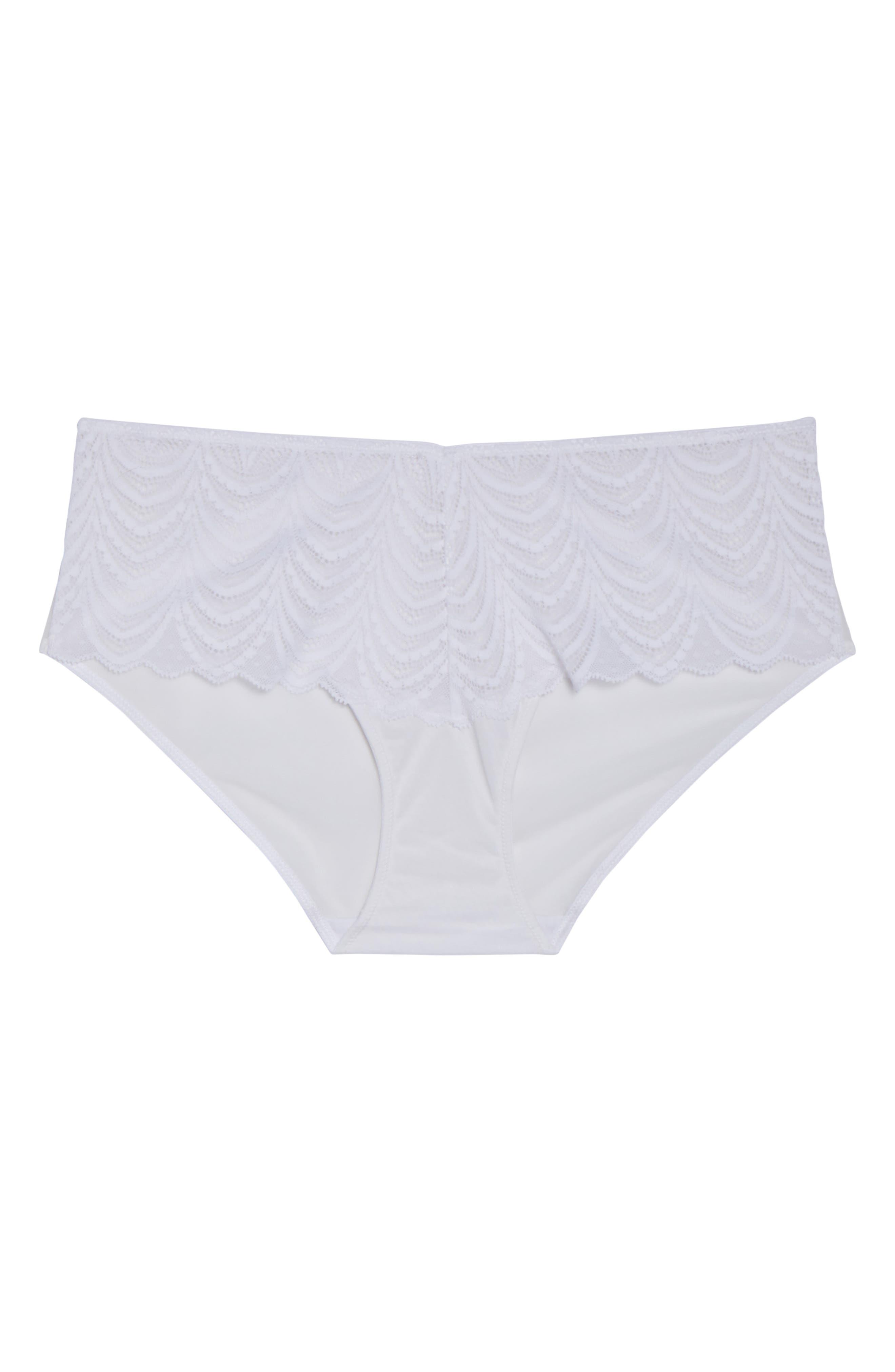 Art Deco Hipster Bikini,                             Alternate thumbnail 8, color,                             White