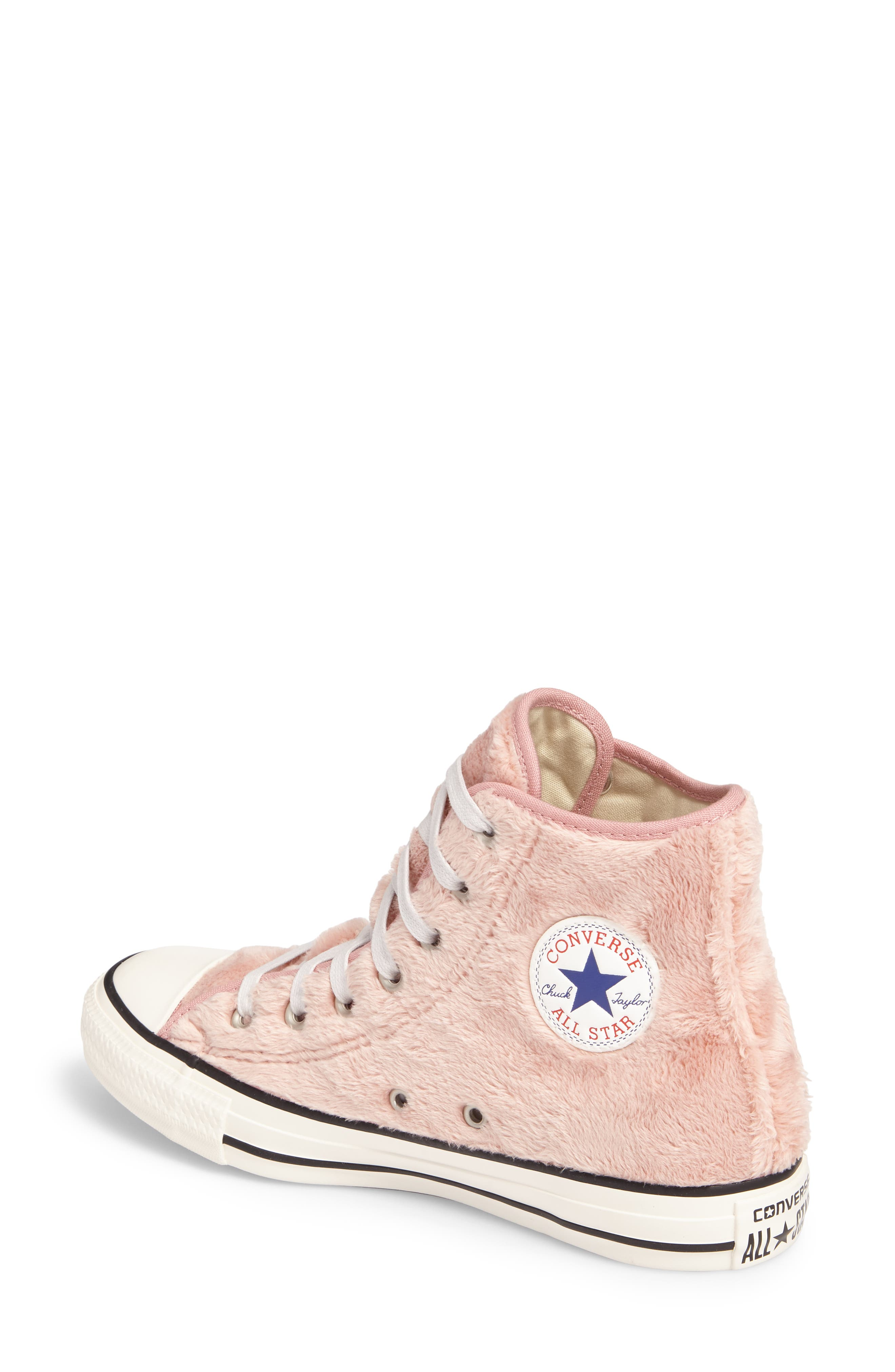 Alternate Image 2  - Converse Chuck Taylor® All Star® Faux Fur High Top Sneakers (Women)