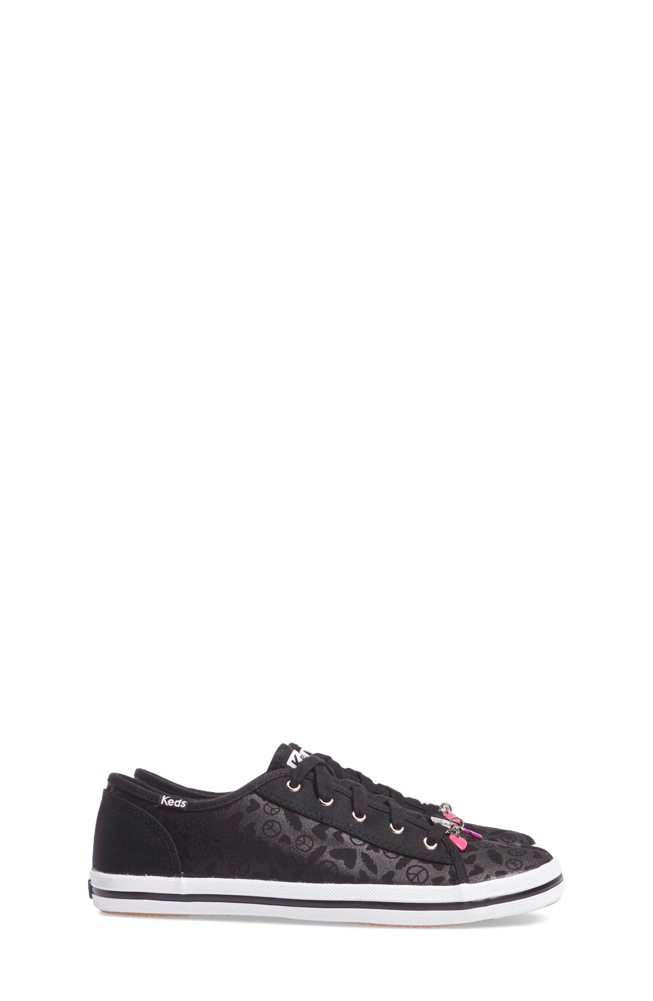 Kickstart Charm Sneaker,                             Alternate thumbnail 3, color,                             Black