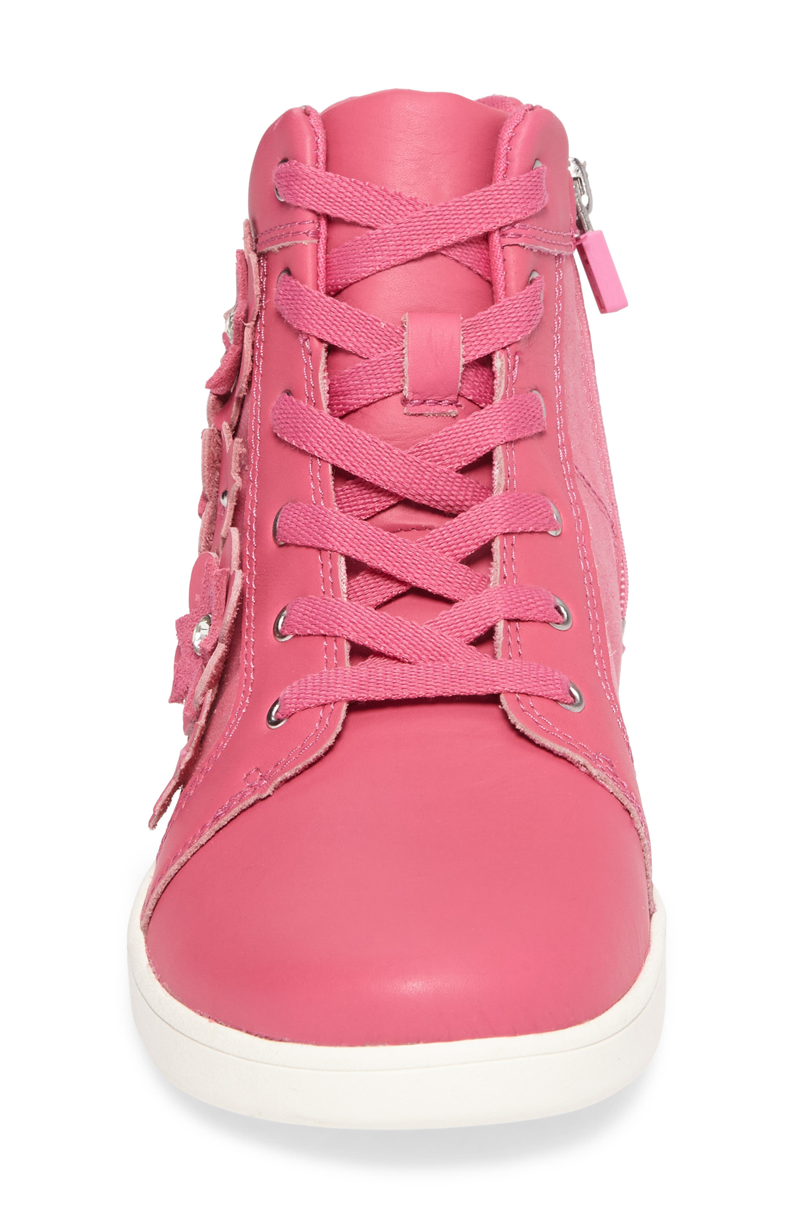Alternate Image 4  - UGG® Schyler Petal Embellished High Top Sneaker (Little Kid & Big Kid)