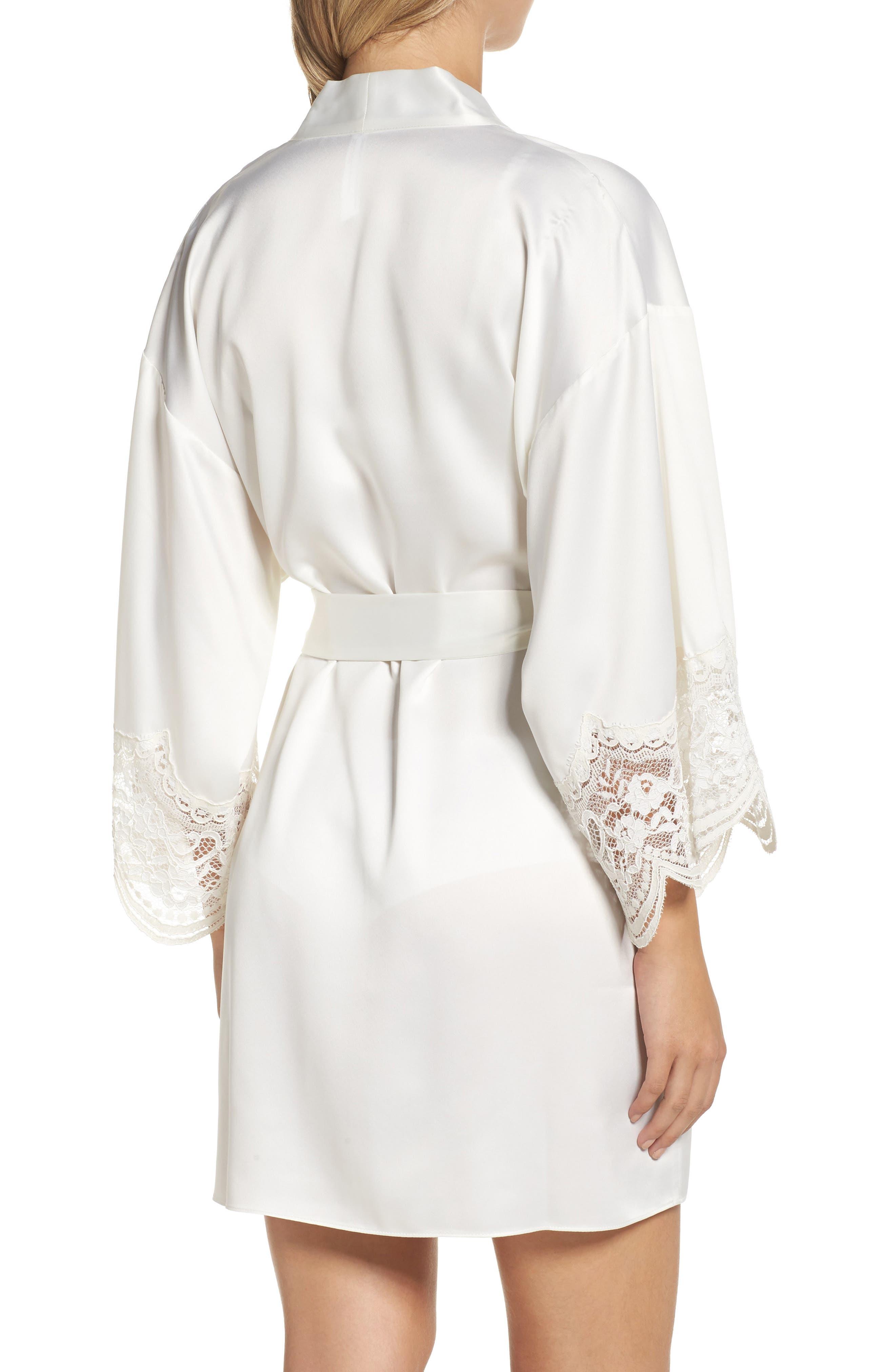 Alternate Image 2  - Flora Nikrooz Monica Satin Kimono Robe