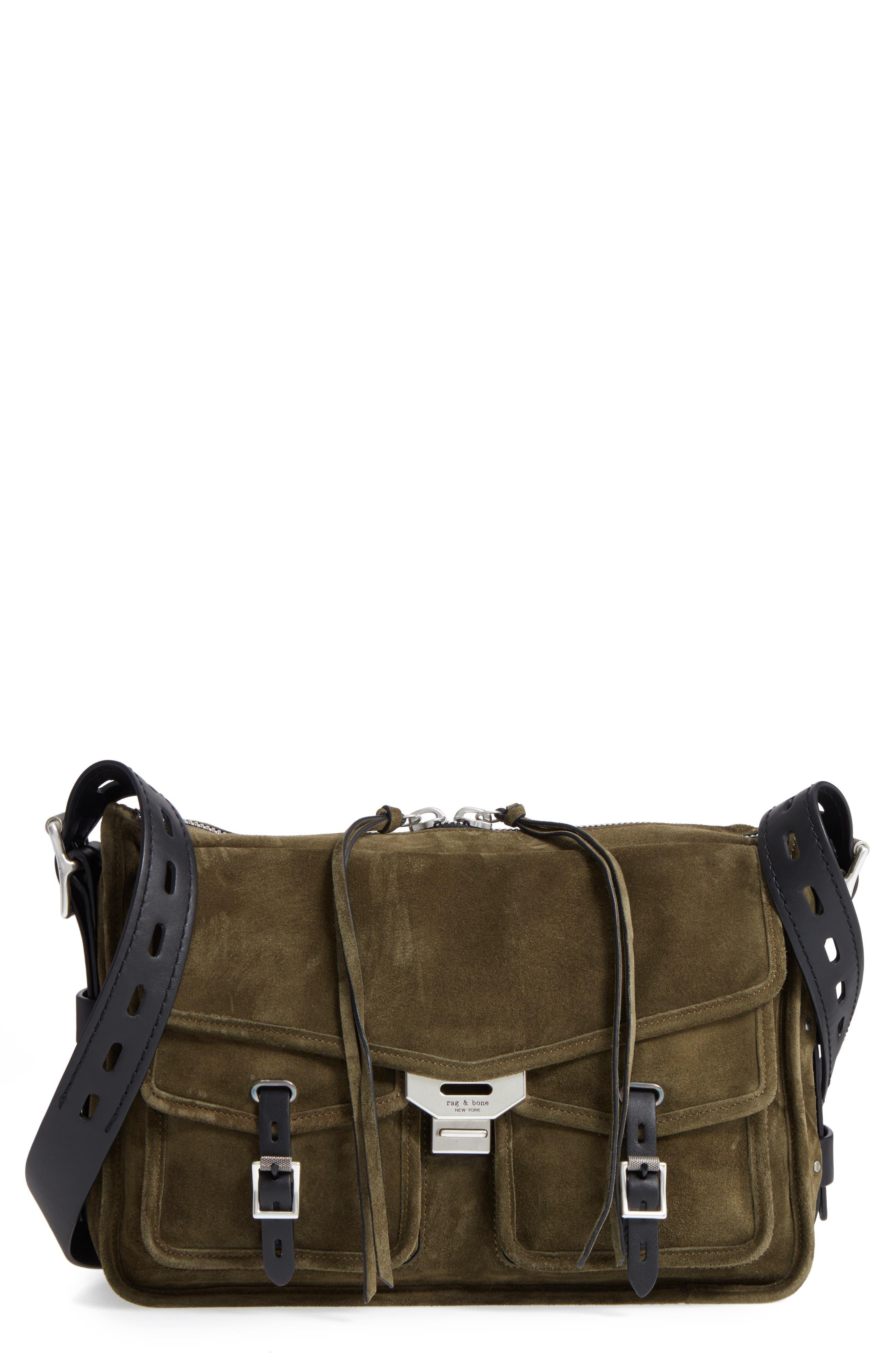 Alternate Image 1 Selected - rag & bone Field Messenger Suede Shoulder Bag