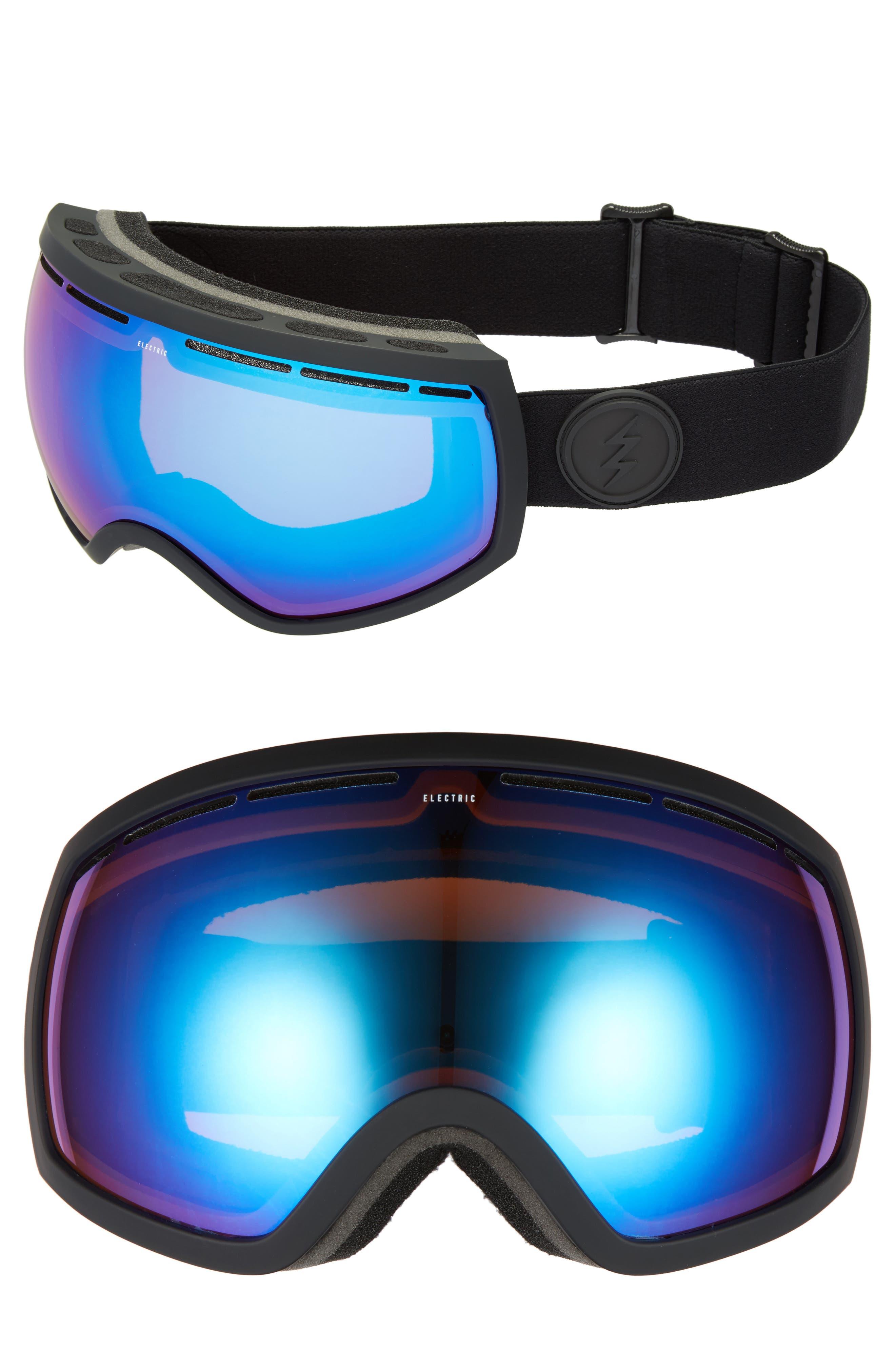 EG2 Snow Goggles,                             Main thumbnail 1, color,                             Matte Black/ Blue Chrome