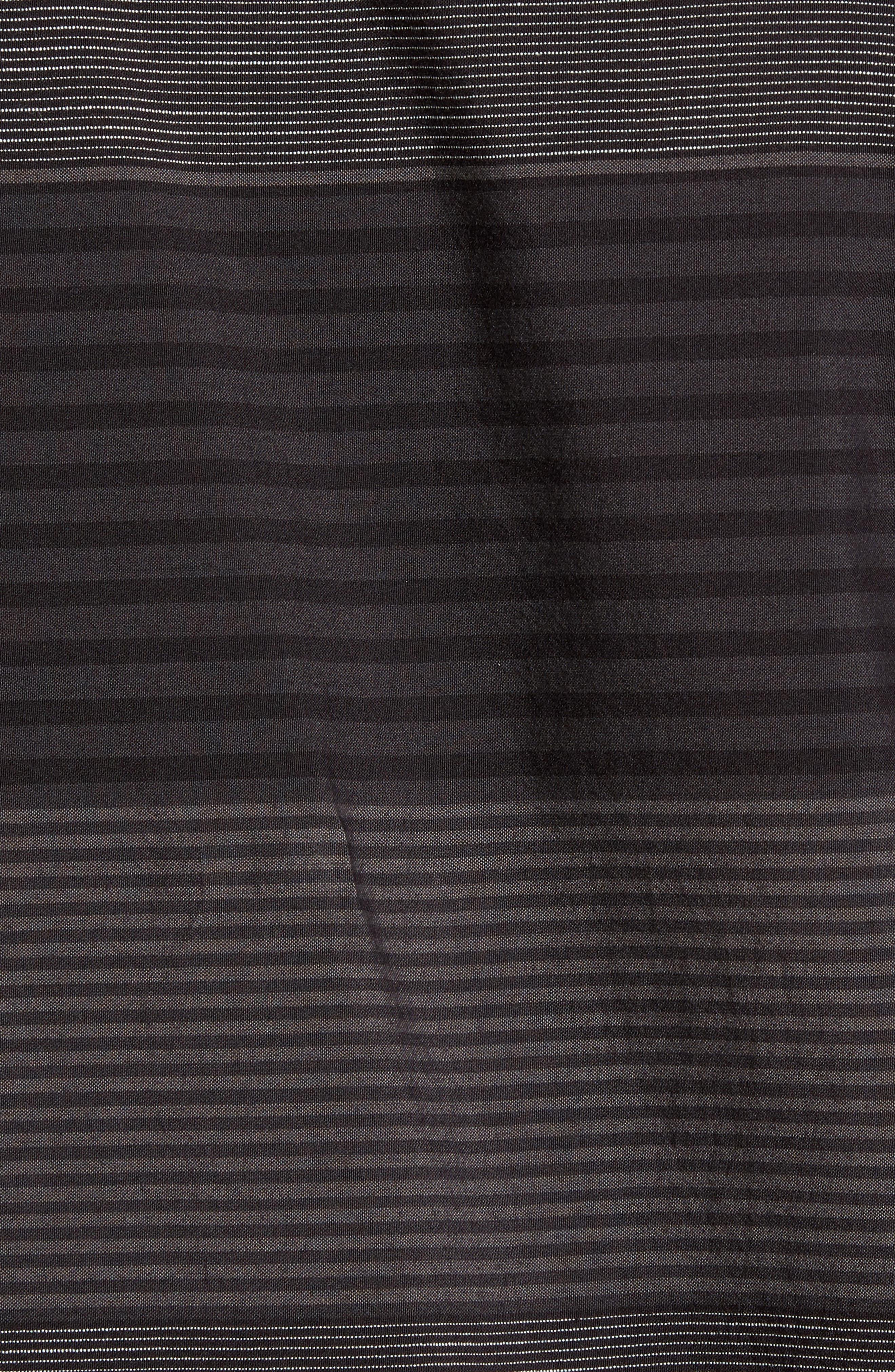 Altair Stripe Sport Shirt,                             Alternate thumbnail 5, color,                             Black