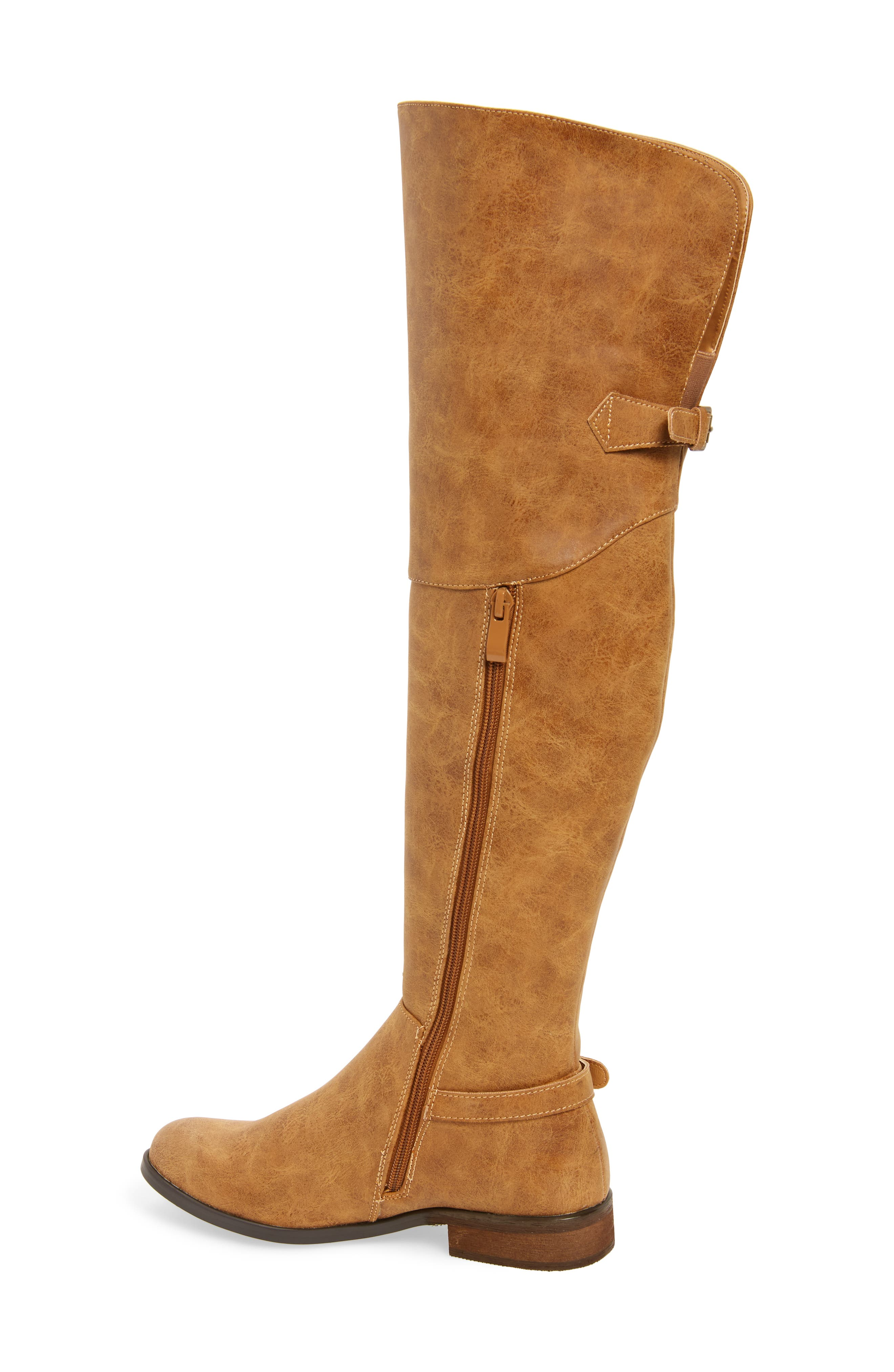 Otto Over the Knee Boot,                             Alternate thumbnail 2, color,                             Tan Faux Leather