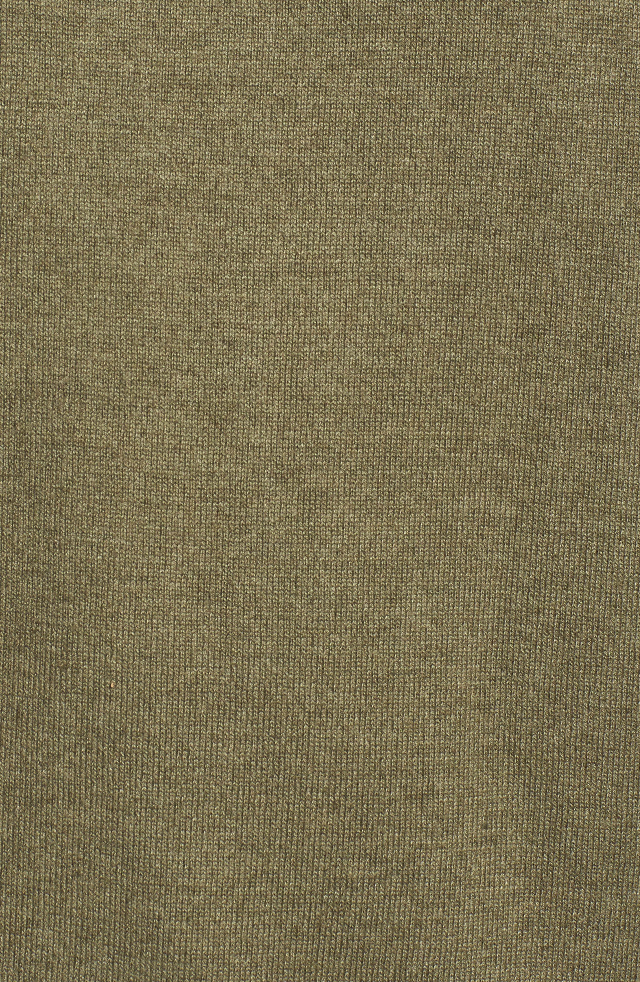 Woodland Tunic Sweater,                             Alternate thumbnail 6, color,                             Burnt Olive Green Heather