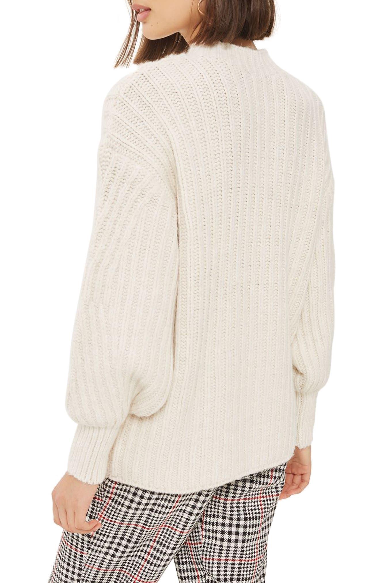 Deflected Rib Sweater,                             Alternate thumbnail 2, color,                             Ivory