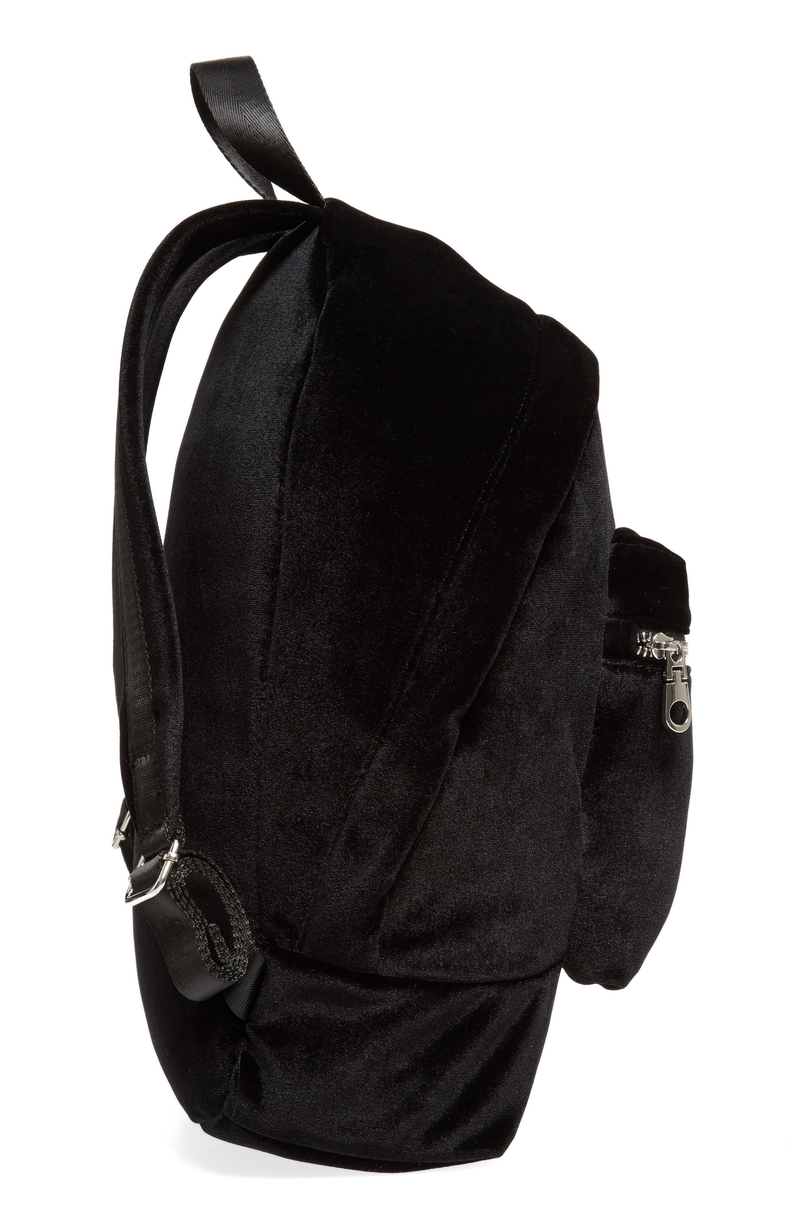 Velvet Backpack,                             Alternate thumbnail 5, color,                             Black