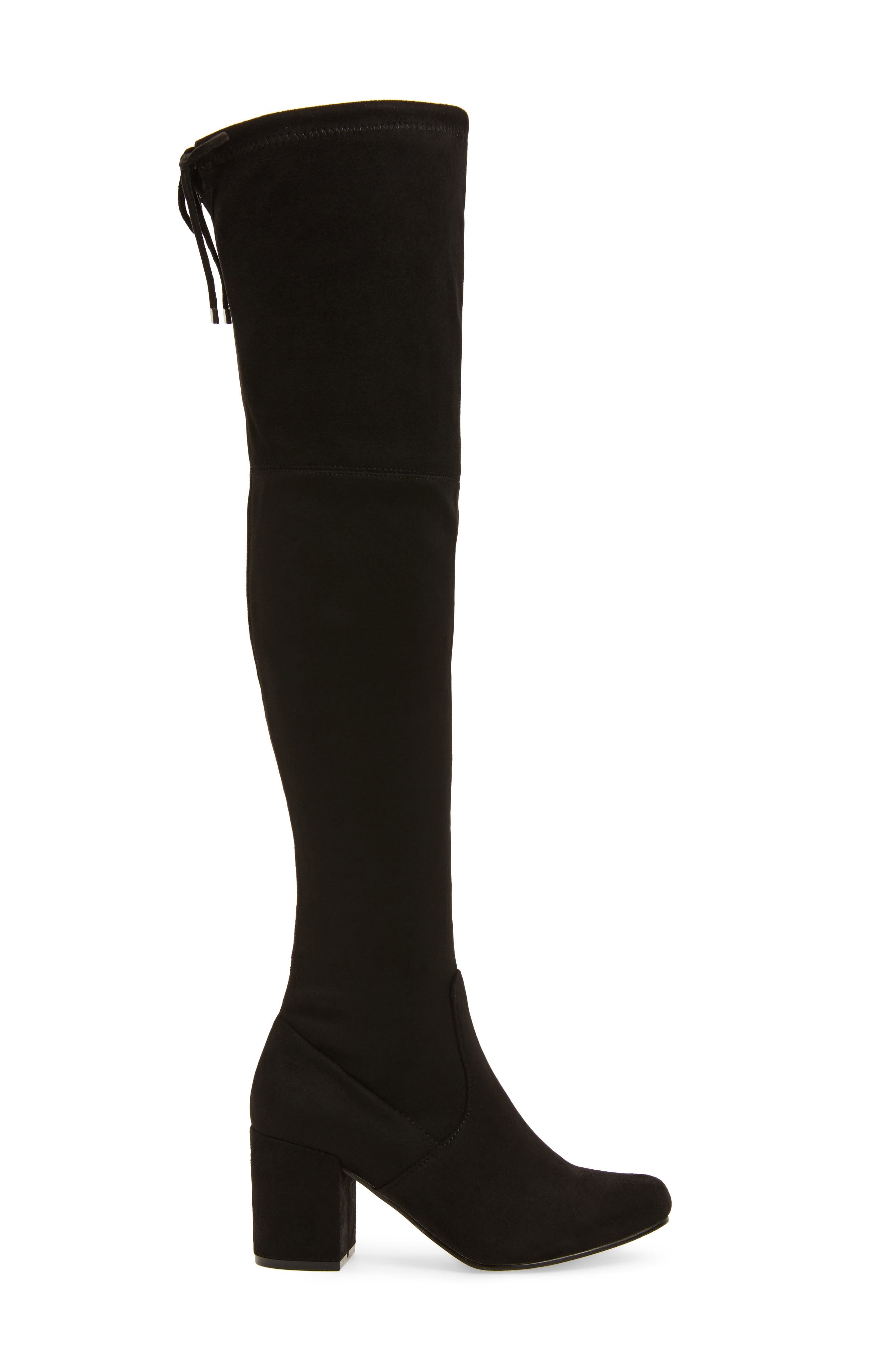 Heartbeat Over the Knee Boot,                             Alternate thumbnail 3, color,                             Black