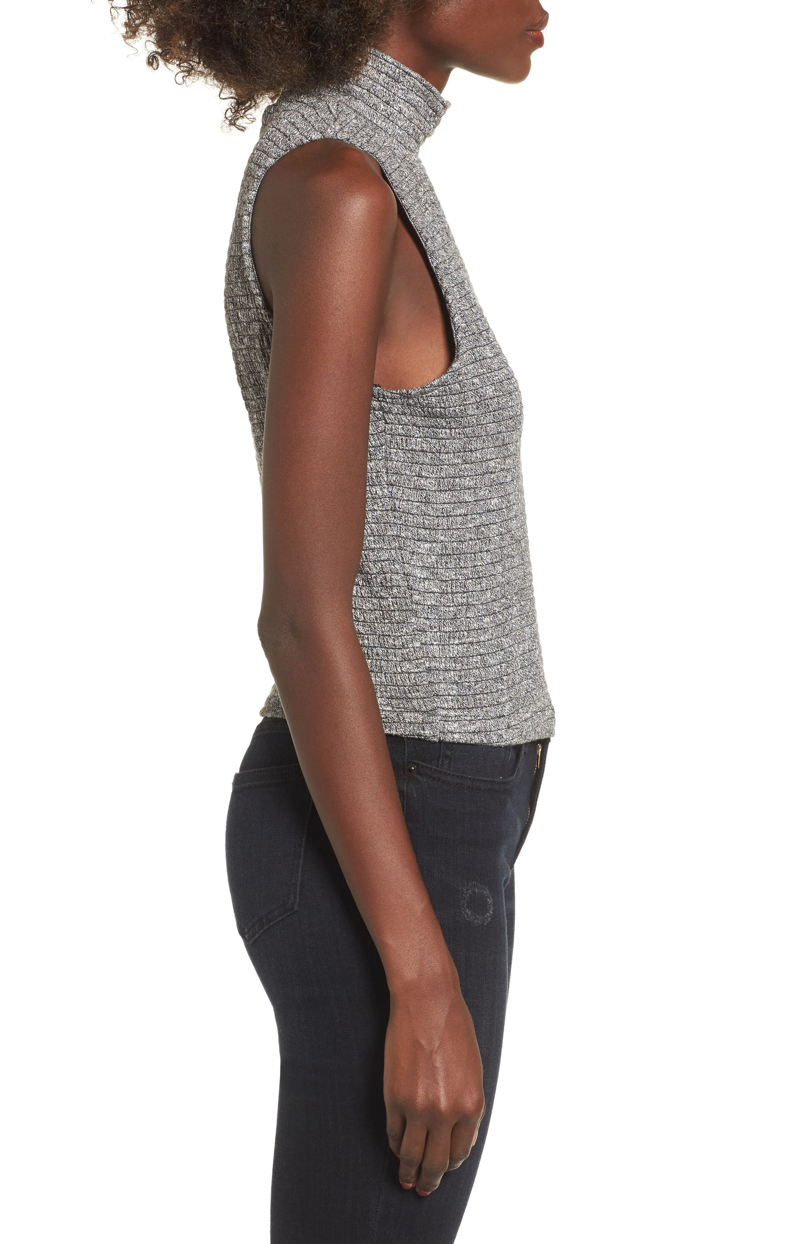 Alternate Image 3  - Love, Fire Smocked Knit Tank Top