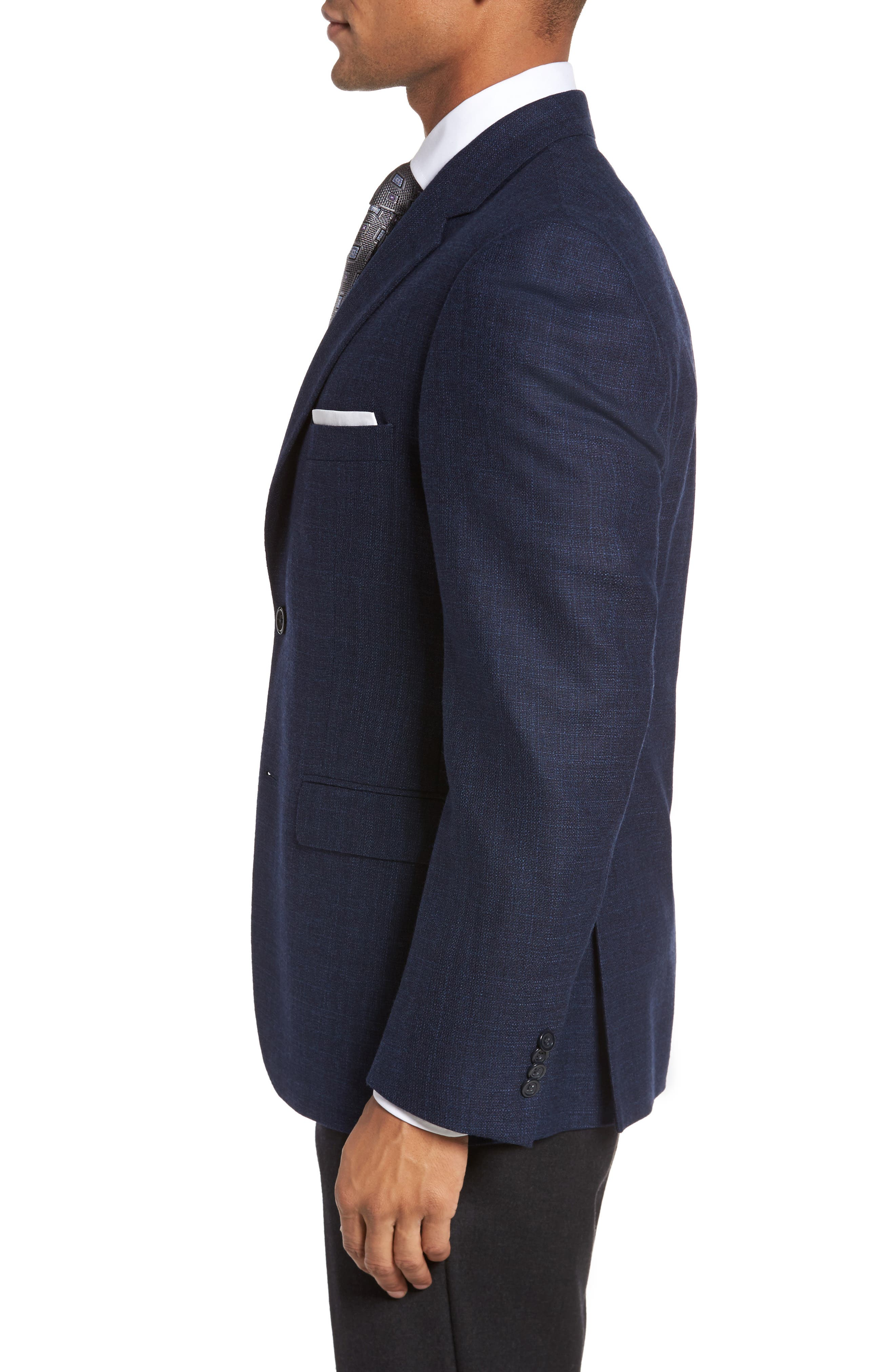Classic Fit Wool Blazer,                             Alternate thumbnail 3, color,                             Blue