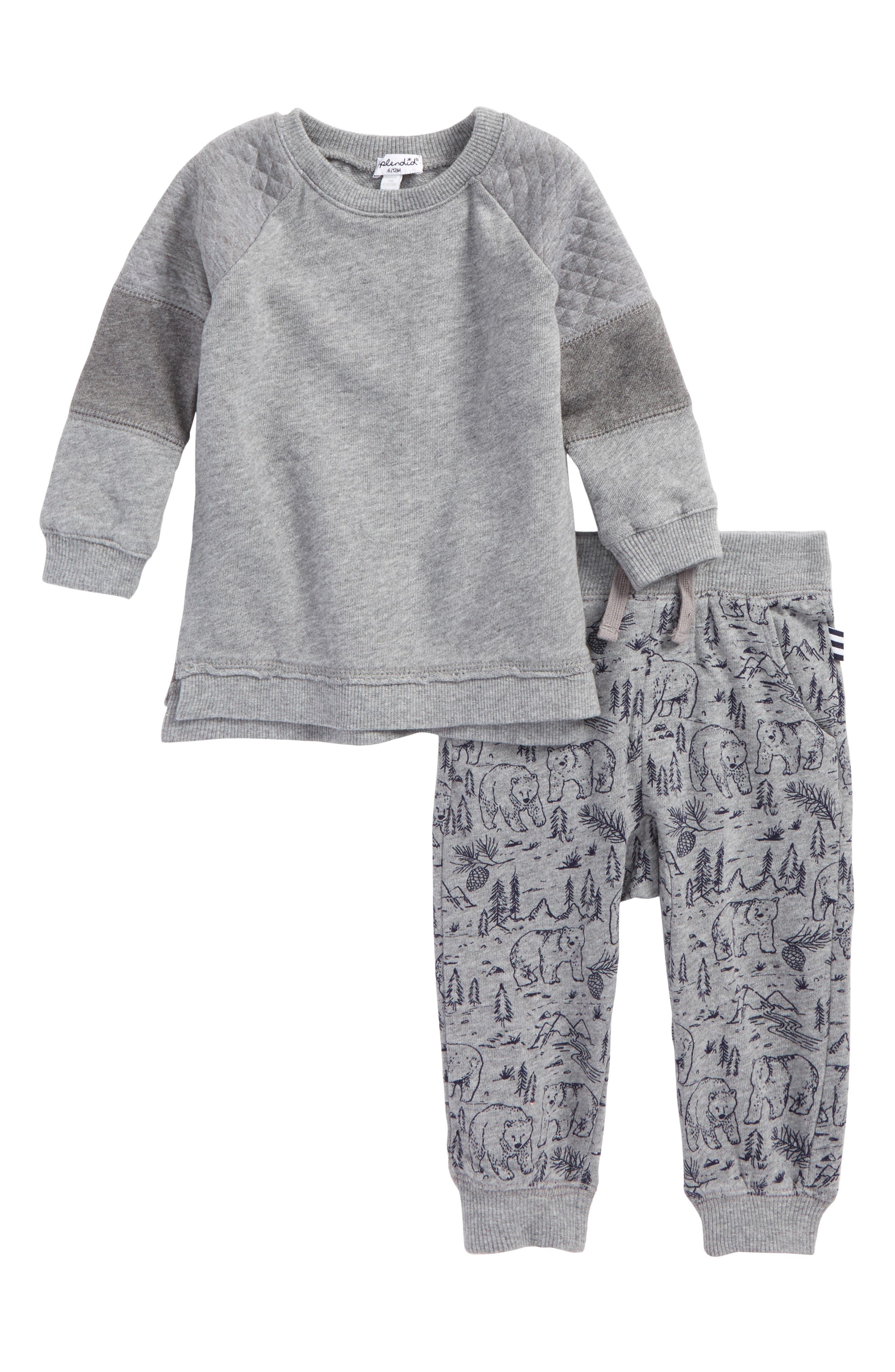 Alternate Image 1 Selected - Splendid Sweatshirt & Sweatpants Set (Baby Boys)