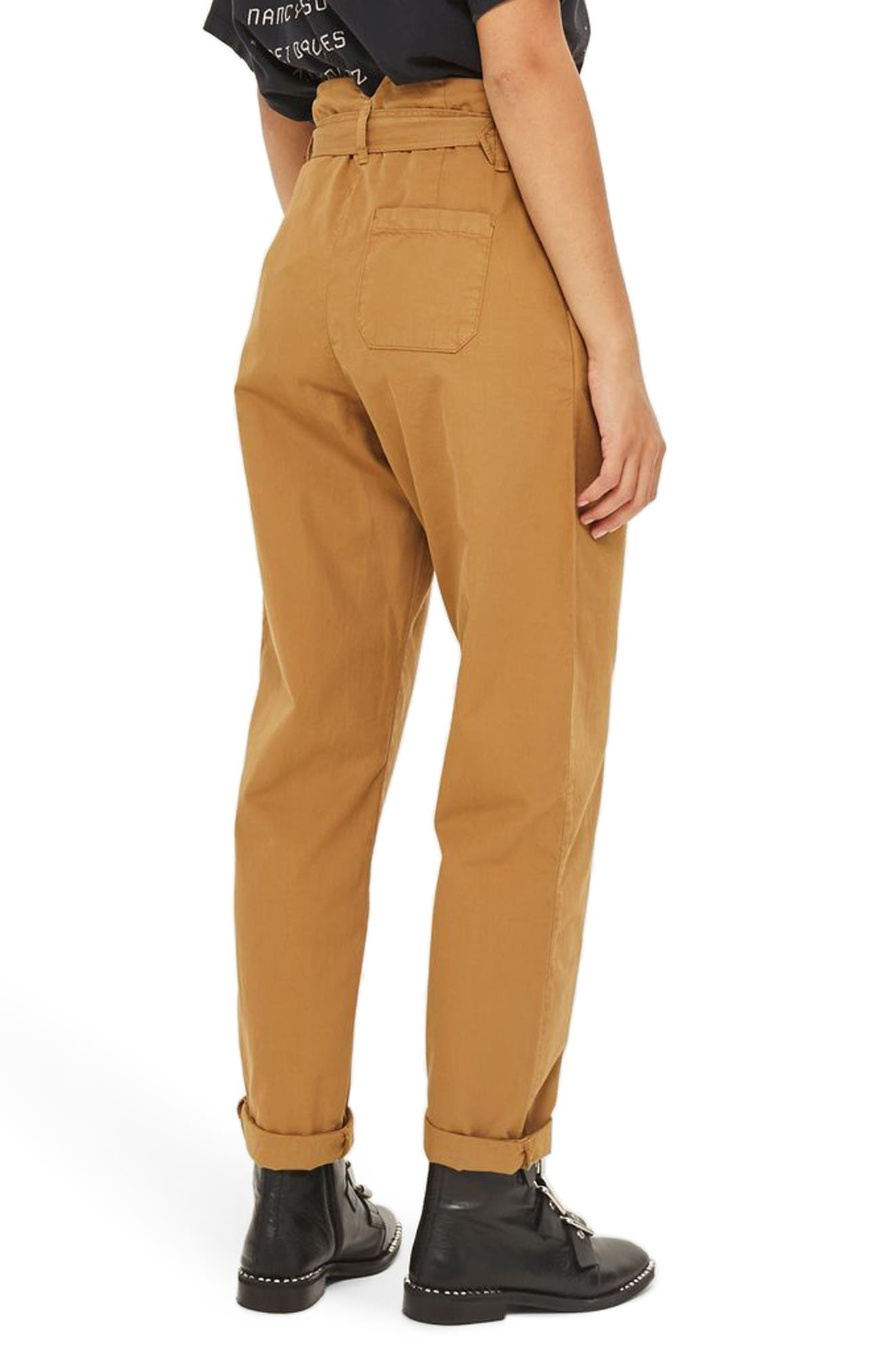 Alternate Image 2  - Topshop Belted Chino Pants