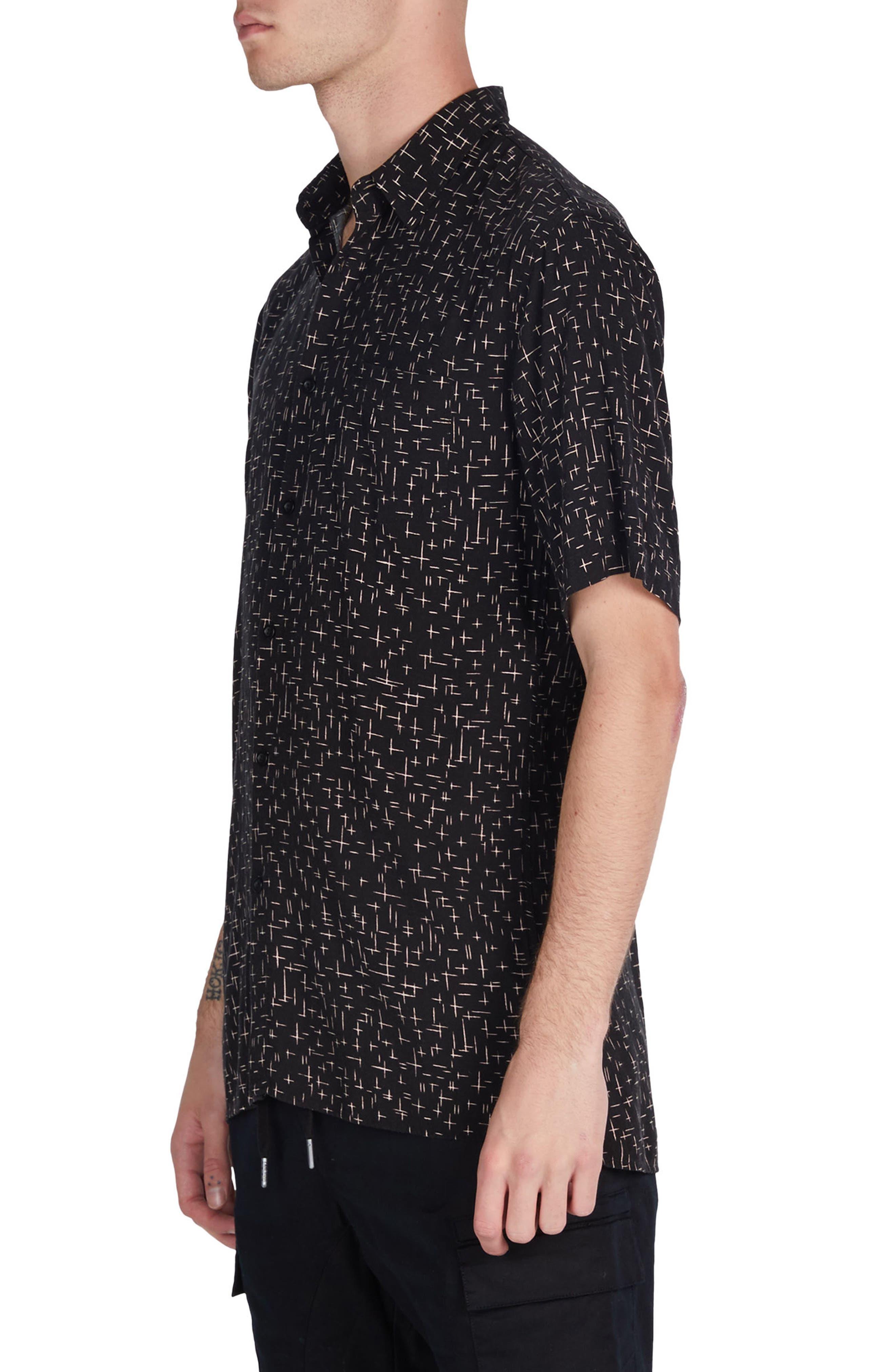 XCross Box Shirt,                             Alternate thumbnail 4, color,                             Black/ Quartz