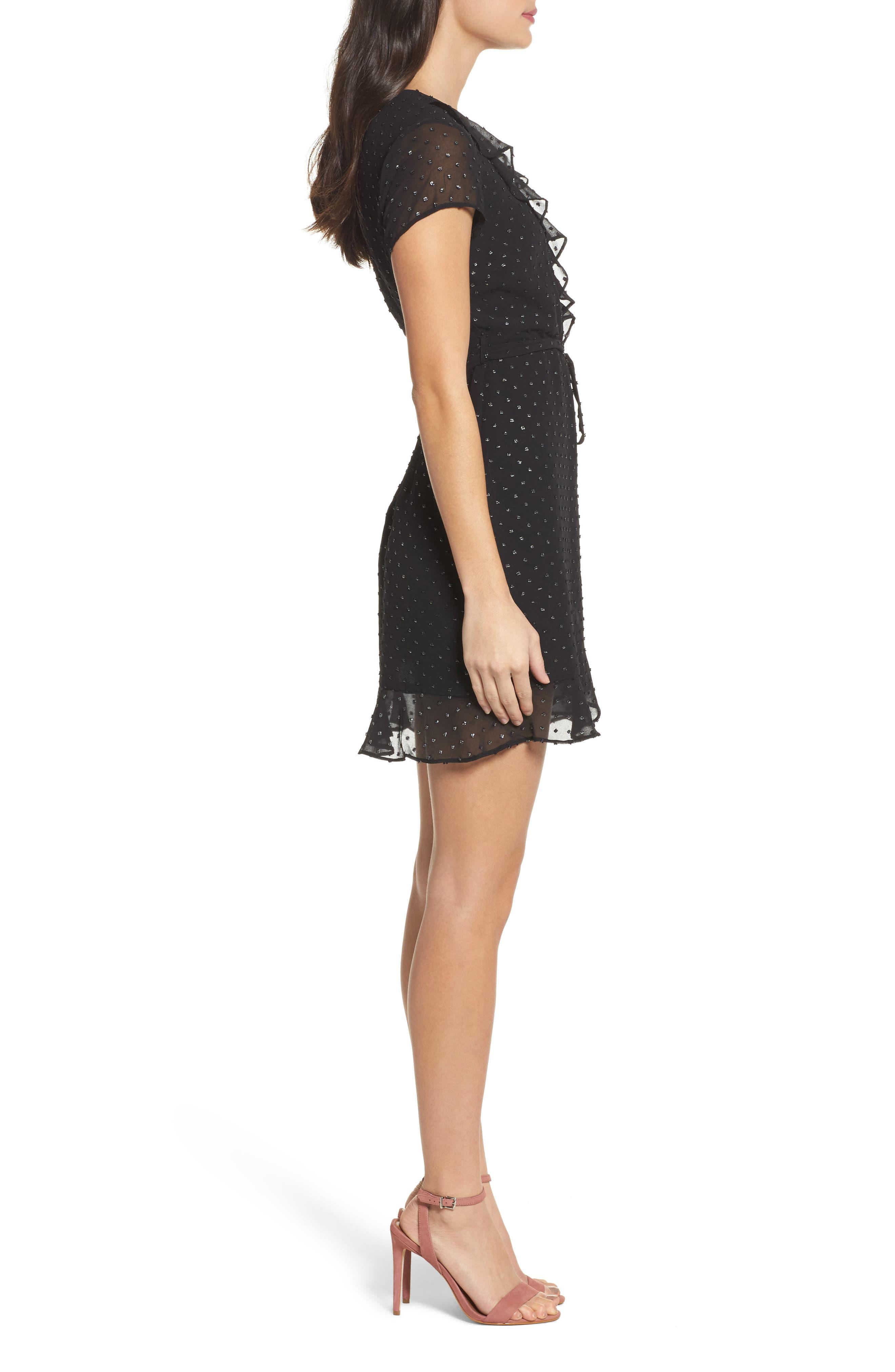 Alternate Image 3  - Bardot Faux Wrap Minidress