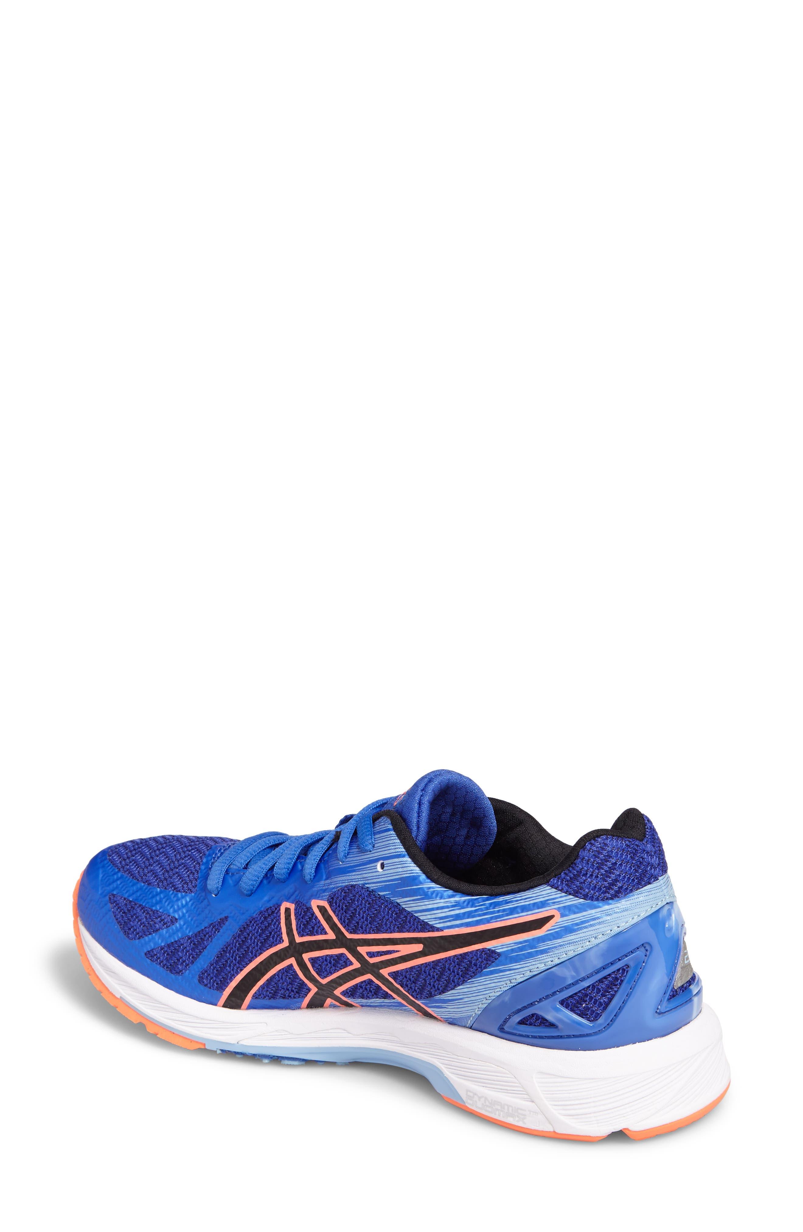 GEL-DS Trainer 22 Running Shoe,                             Alternate thumbnail 2, color,                             Blue Purple/ Black/ Coral