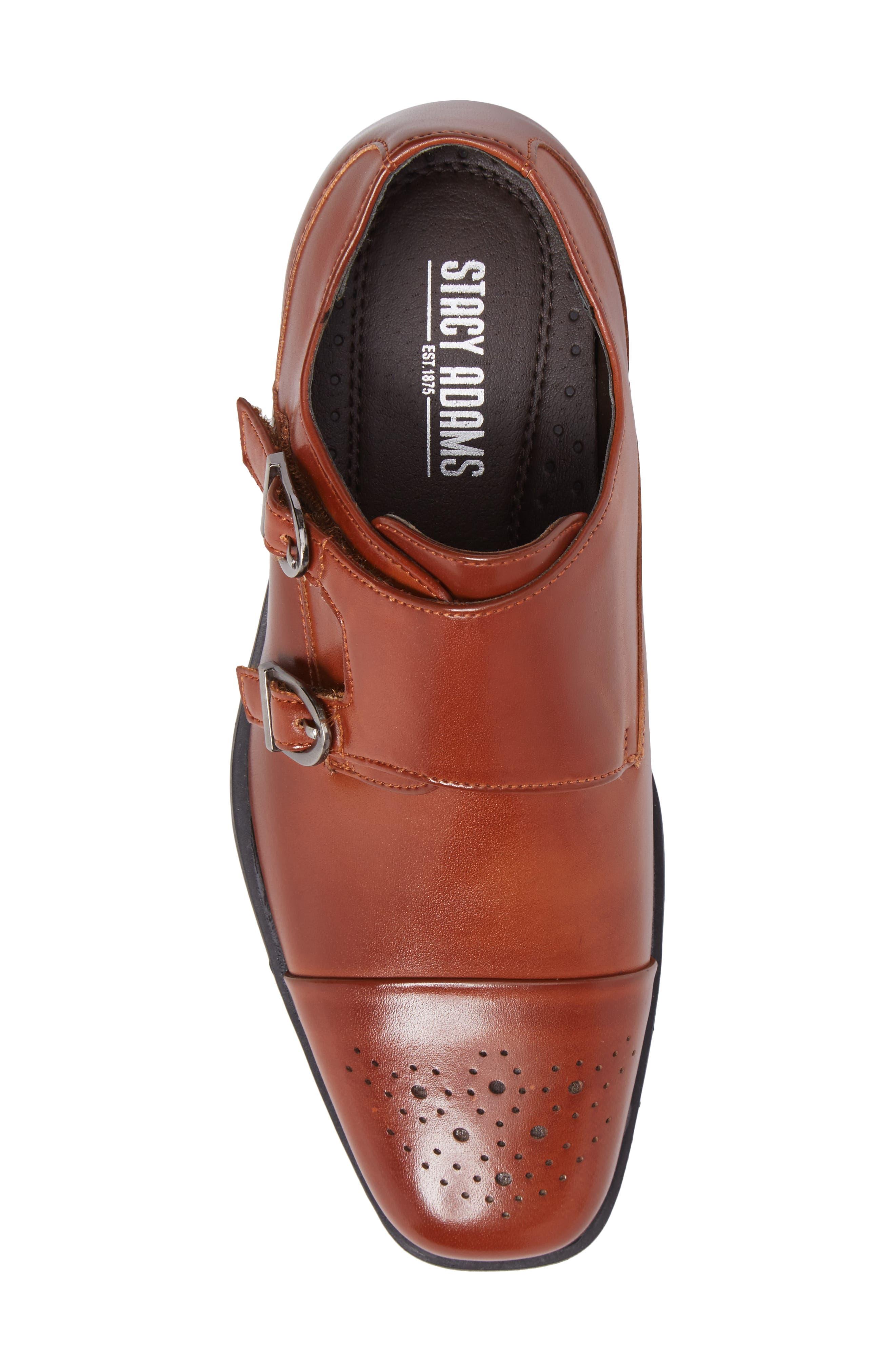 Trevor Cap Toe Monk Shoe,                             Alternate thumbnail 5, color,                             Cognac