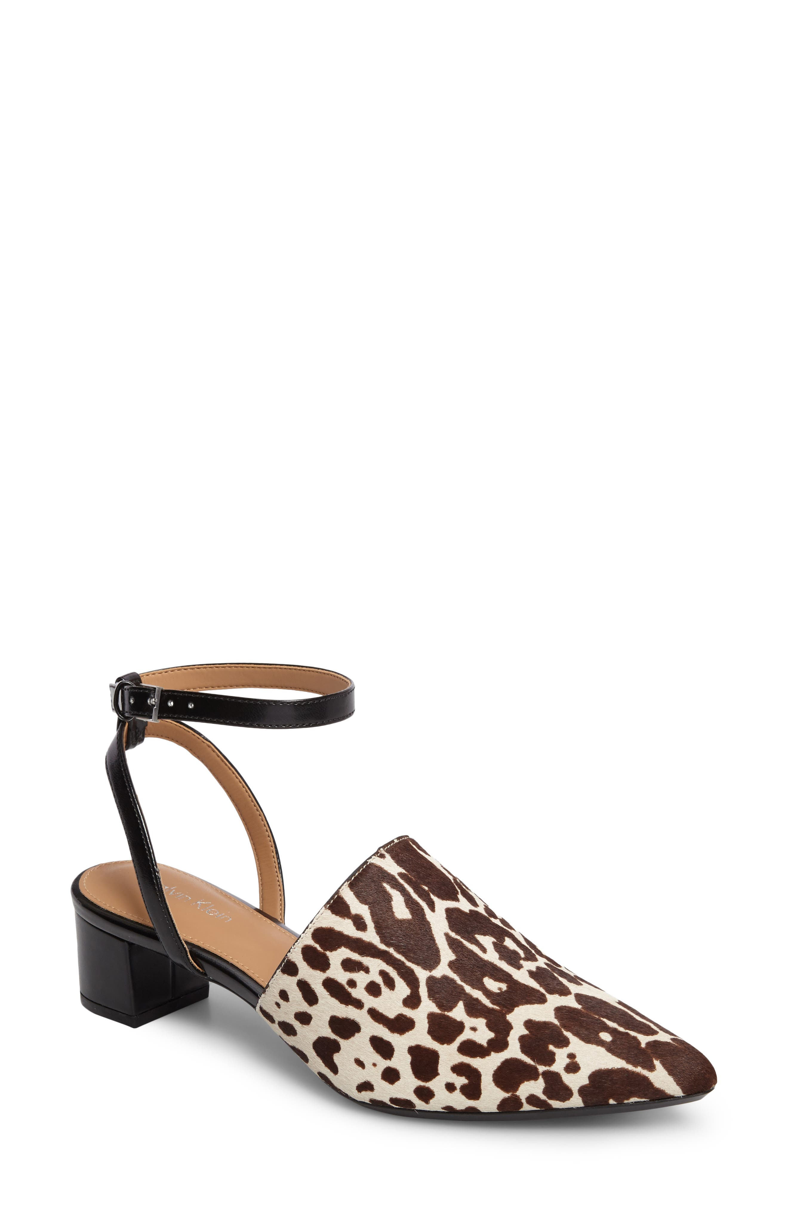 Alternate Image 1 Selected - Calvin Klein Ginetta Ankle Strap Pump (Women)
