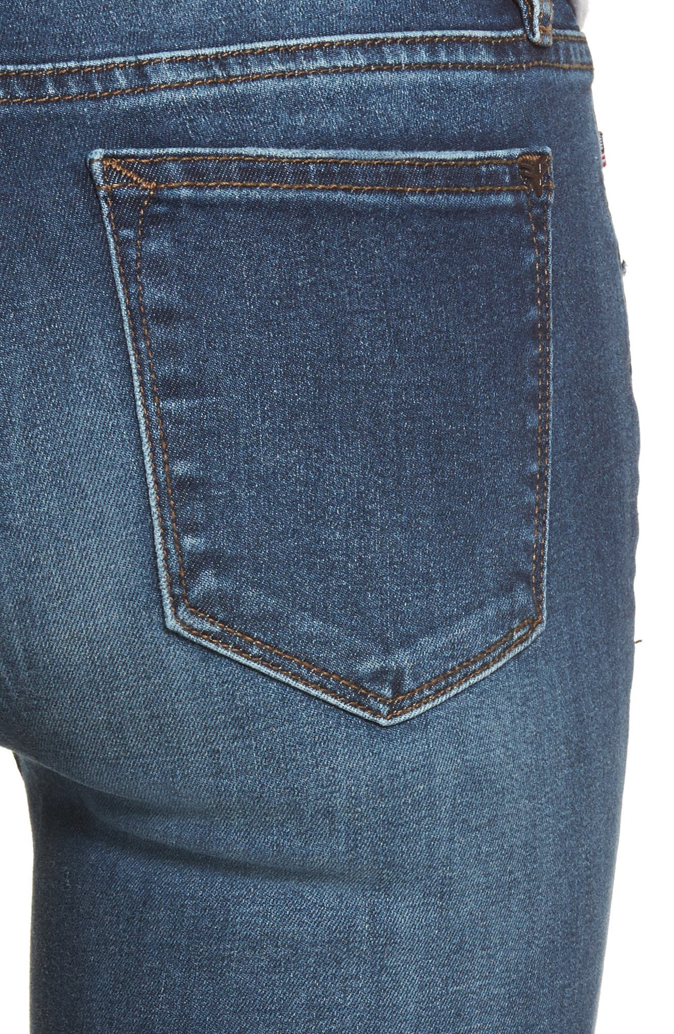 Jagger Distressed Skinny Jeans,                             Alternate thumbnail 4, color,                             Dark Wash