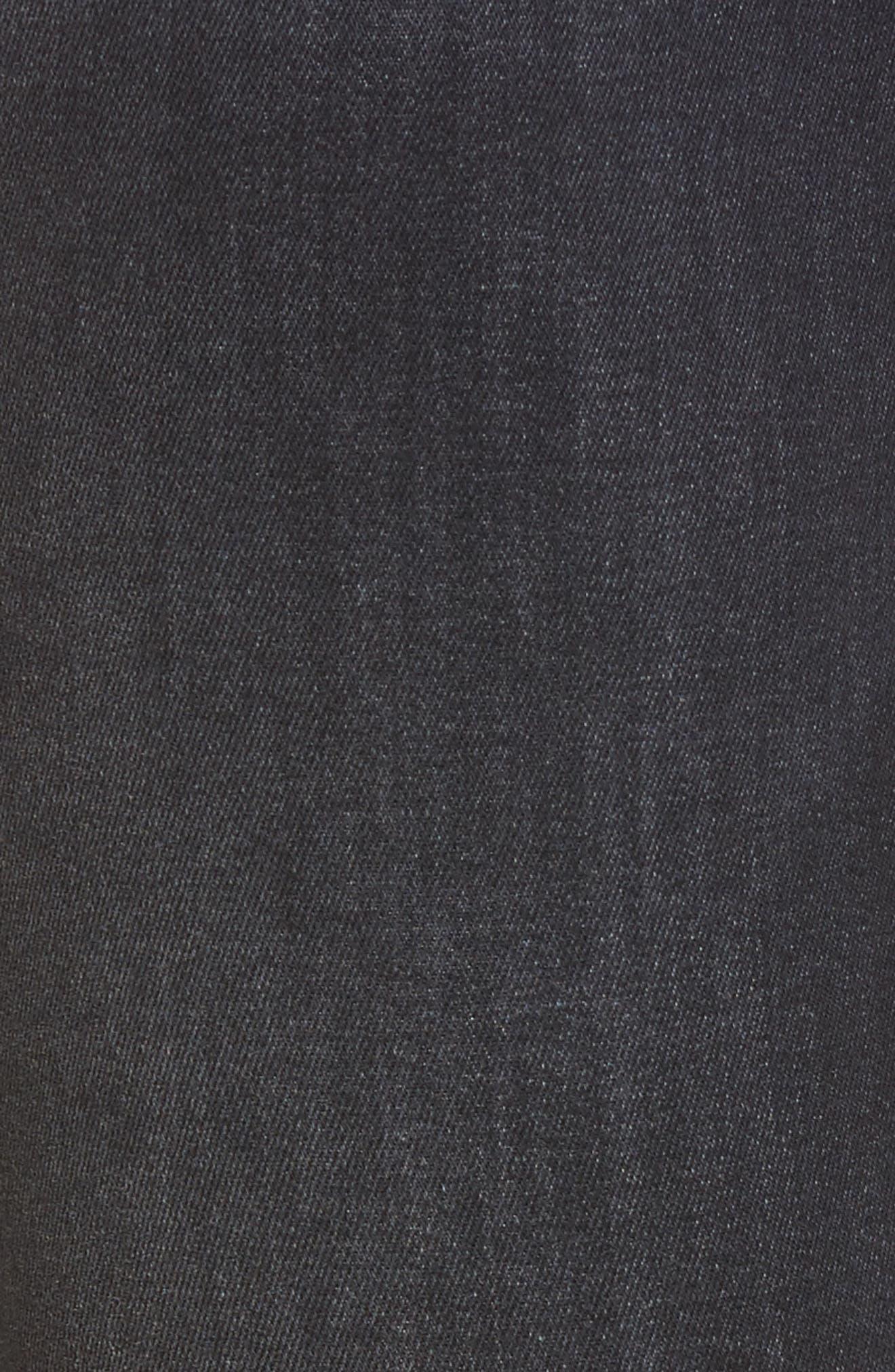 Alternate Image 5  - Fidelity Denim Mila Step Hem Skinny Jeans (After Midnight)