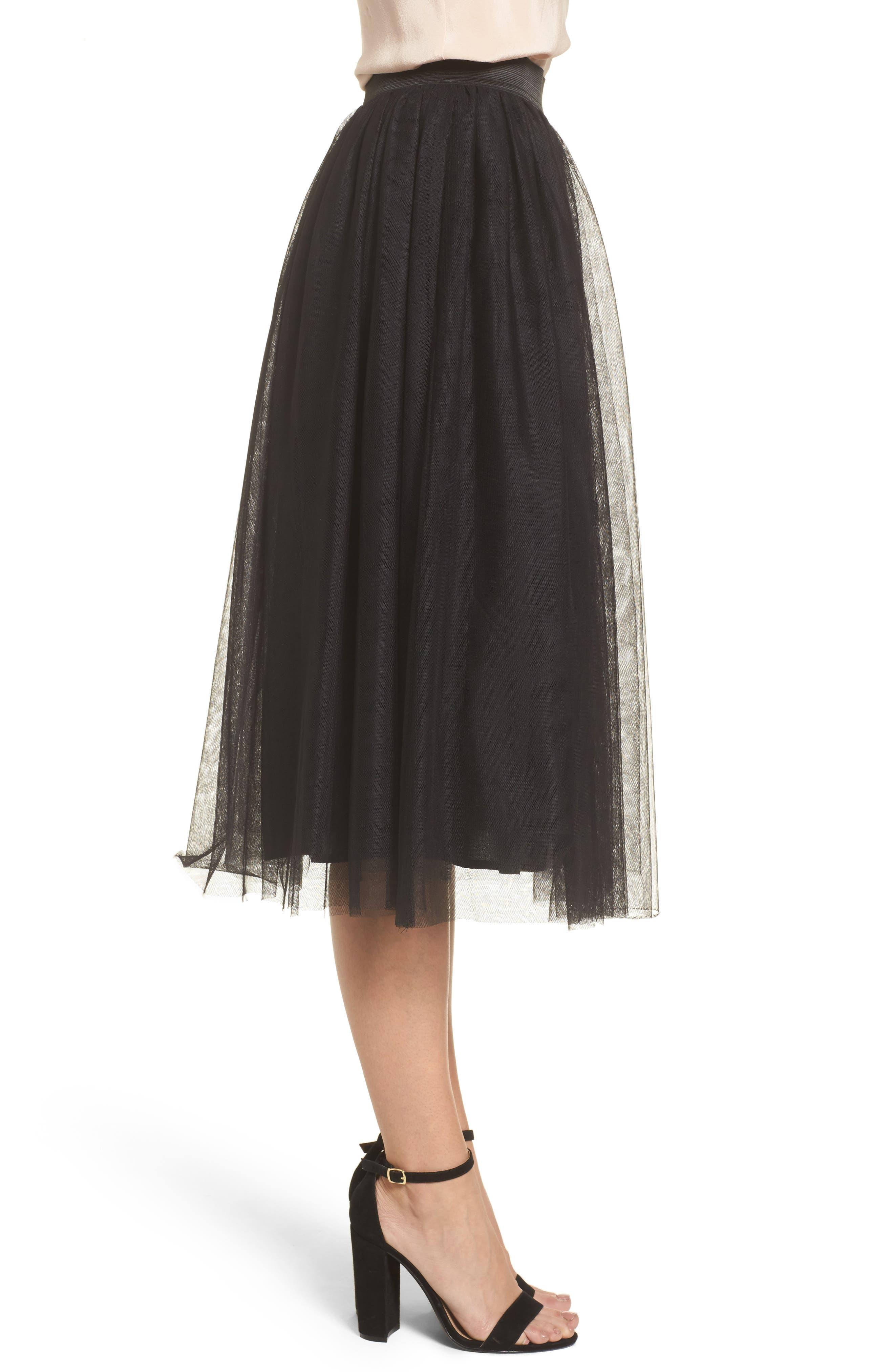 Alternate Image 3  - Halogen® Tulle Midi Skirt (Regular & Petite)