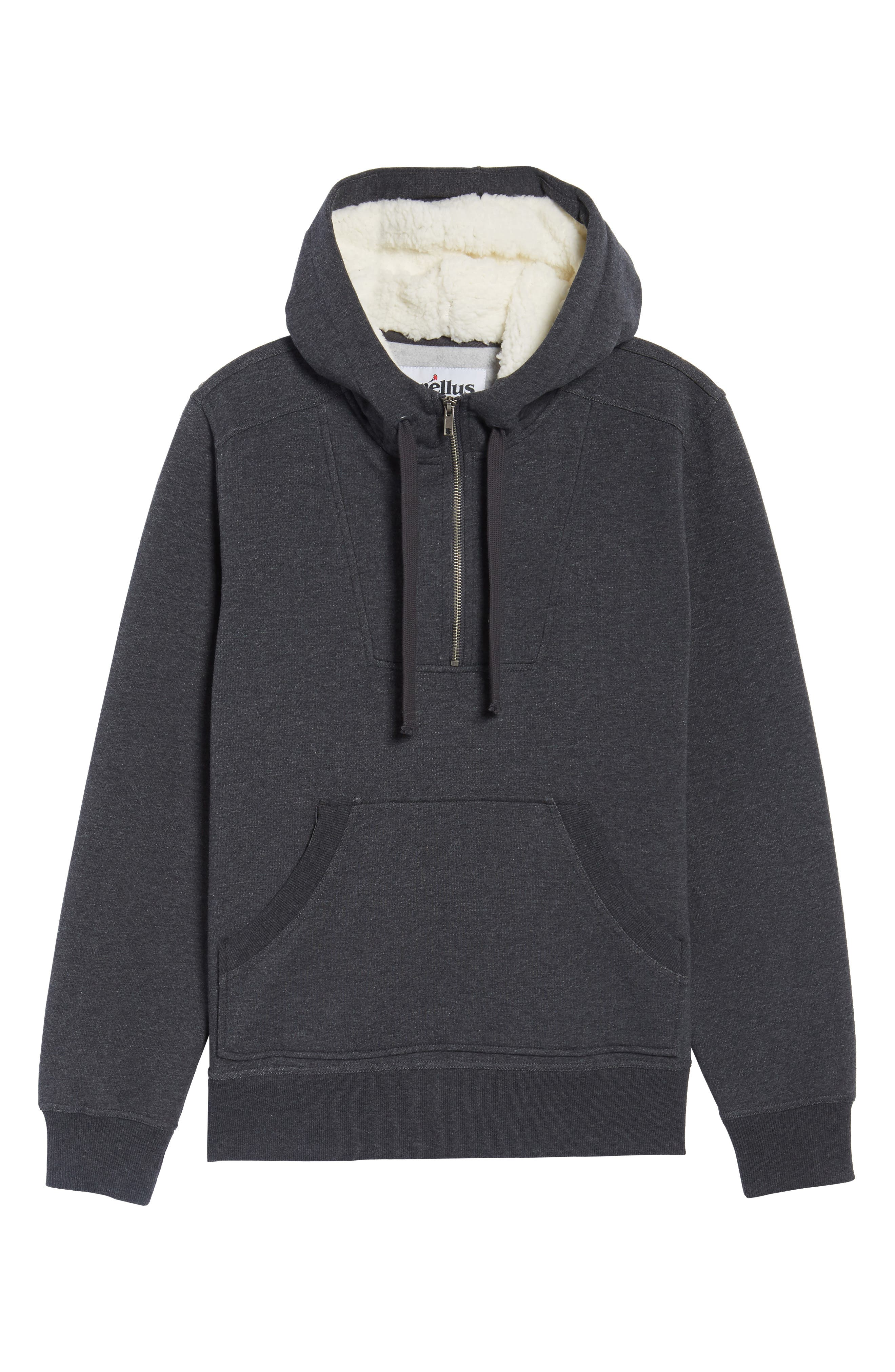 Fleece Lined Hoodie,                             Alternate thumbnail 6, color,                             Charcoal