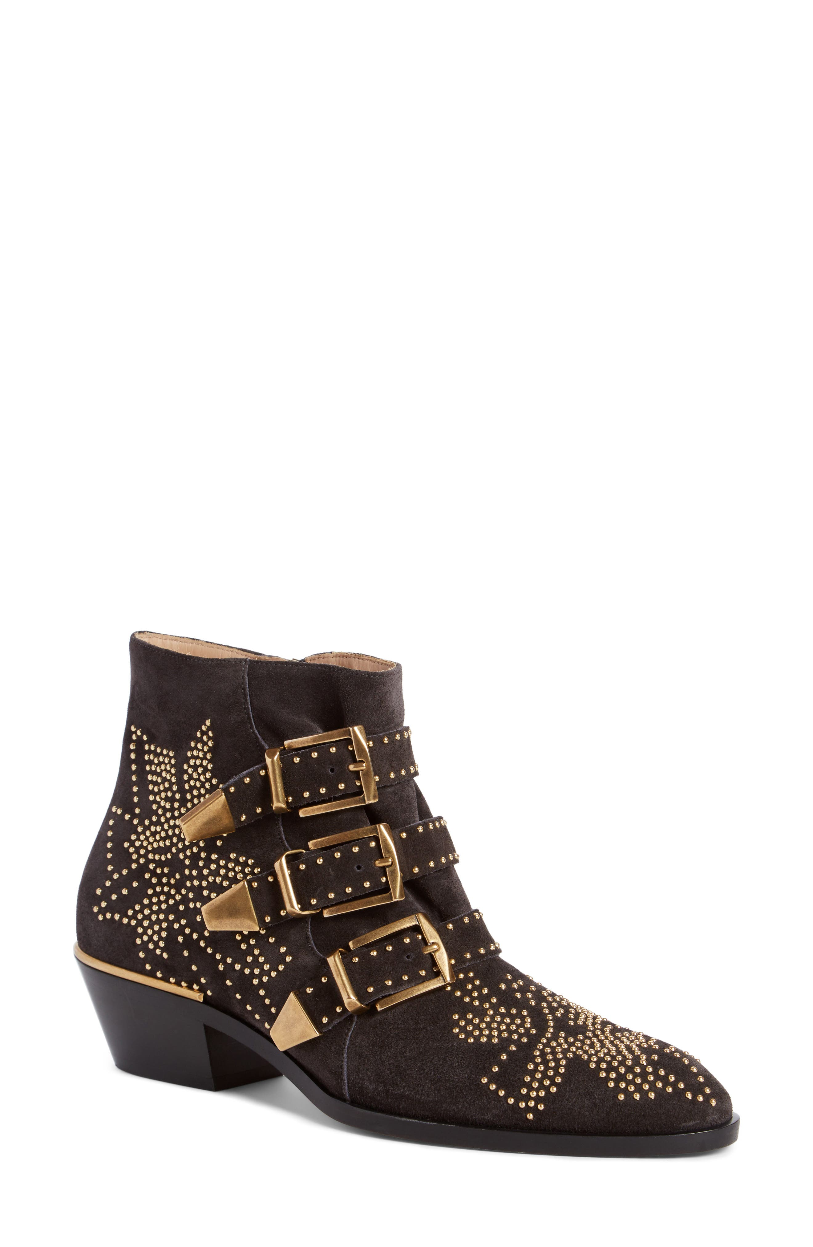 Alternate Image 1 Selected - Chloé Susanna Stud Buckle Bootie (Women)