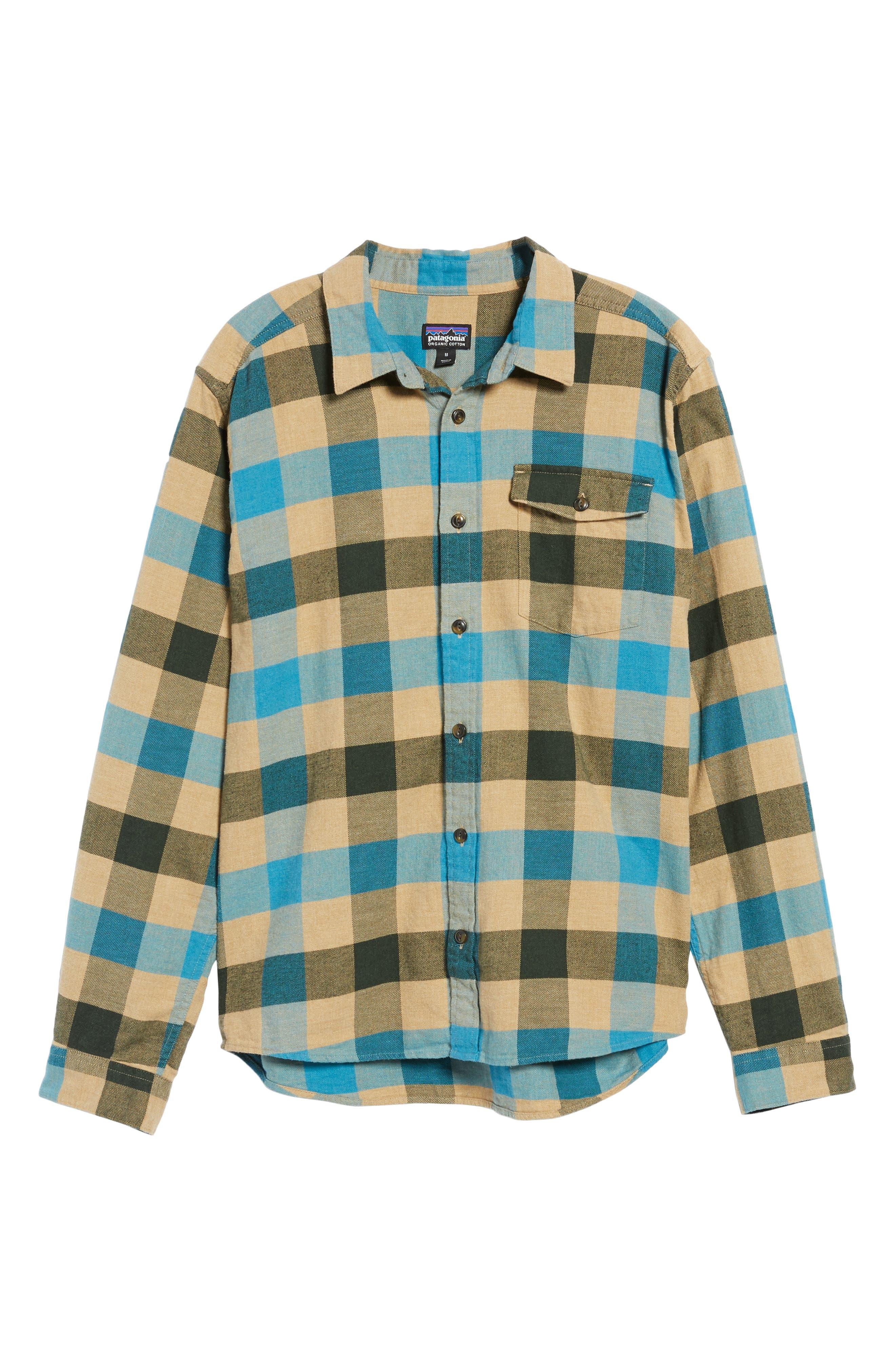 Alternate Image 6  - Patagonia Regular Fit Organic Cotton Flannel Shirt